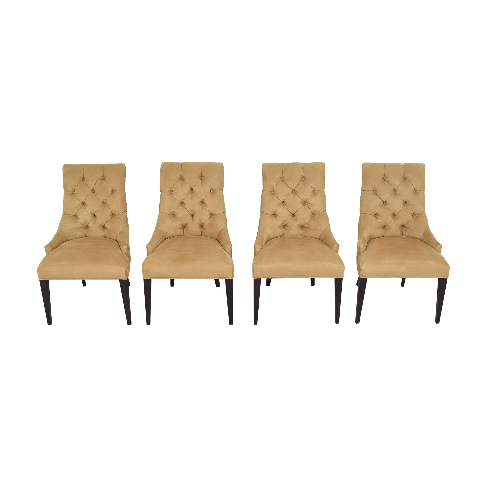 Restoration Hardware Restoration Hardware Martine Tufted Dining Armchairs ct