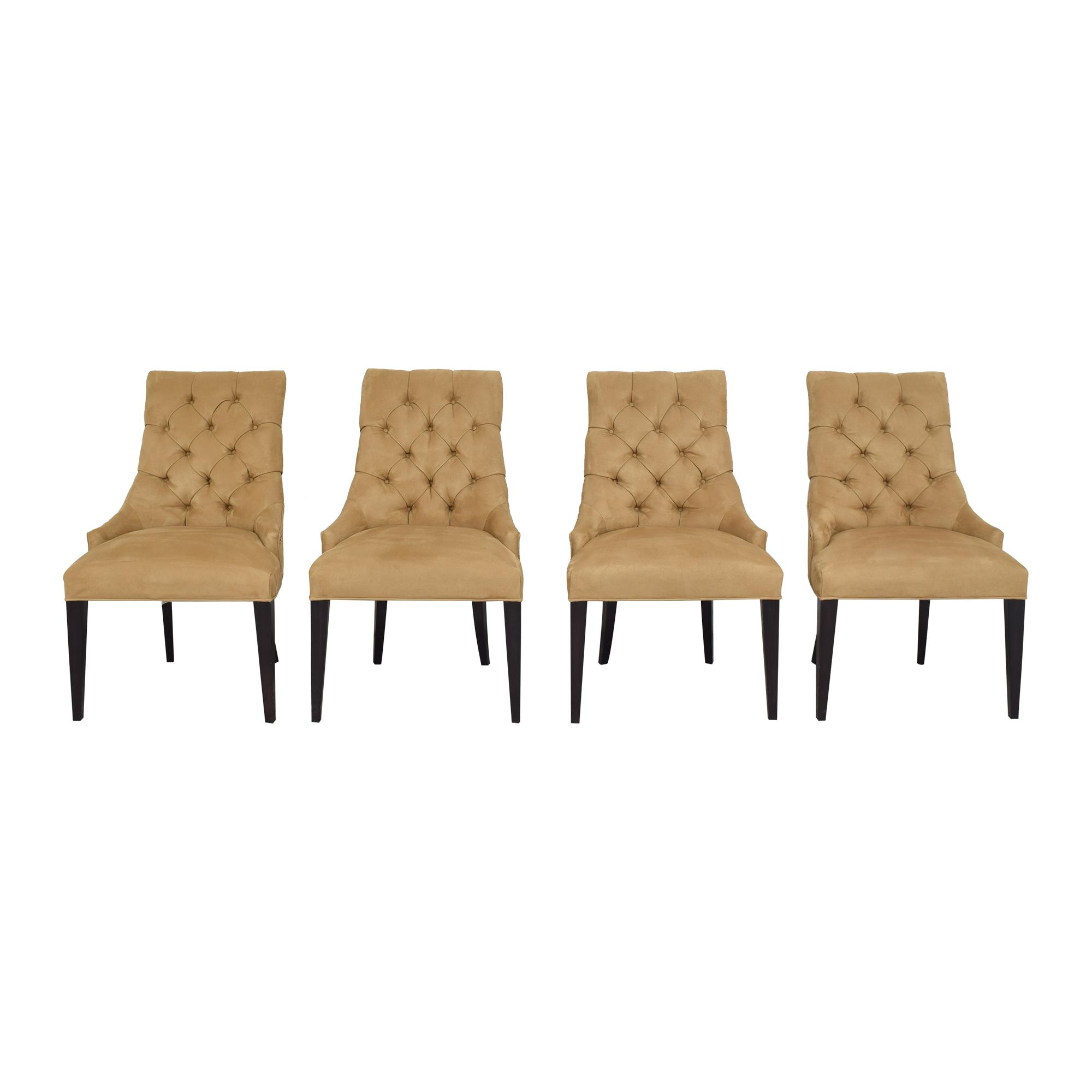 shop Restoration Hardware Martine Tufted Dining Armchairs Restoration Hardware Chairs