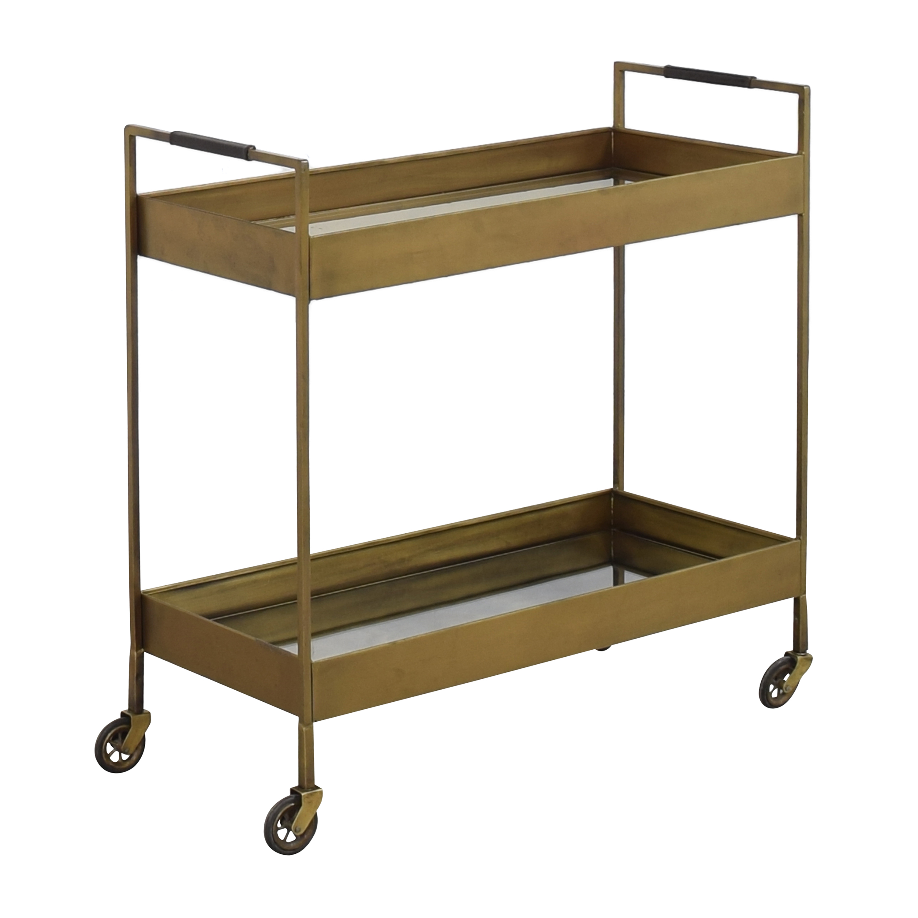 Antique-Style Mirrored Bar Cart discount