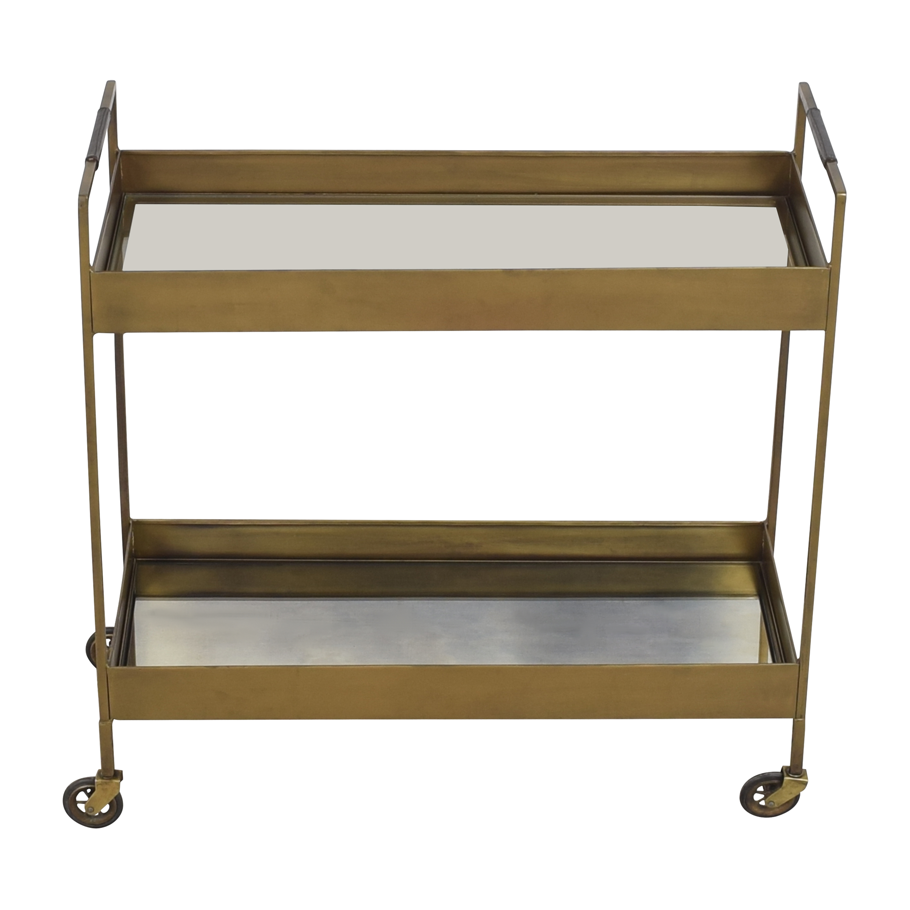 Antique-Style Mirrored Bar Cart on sale