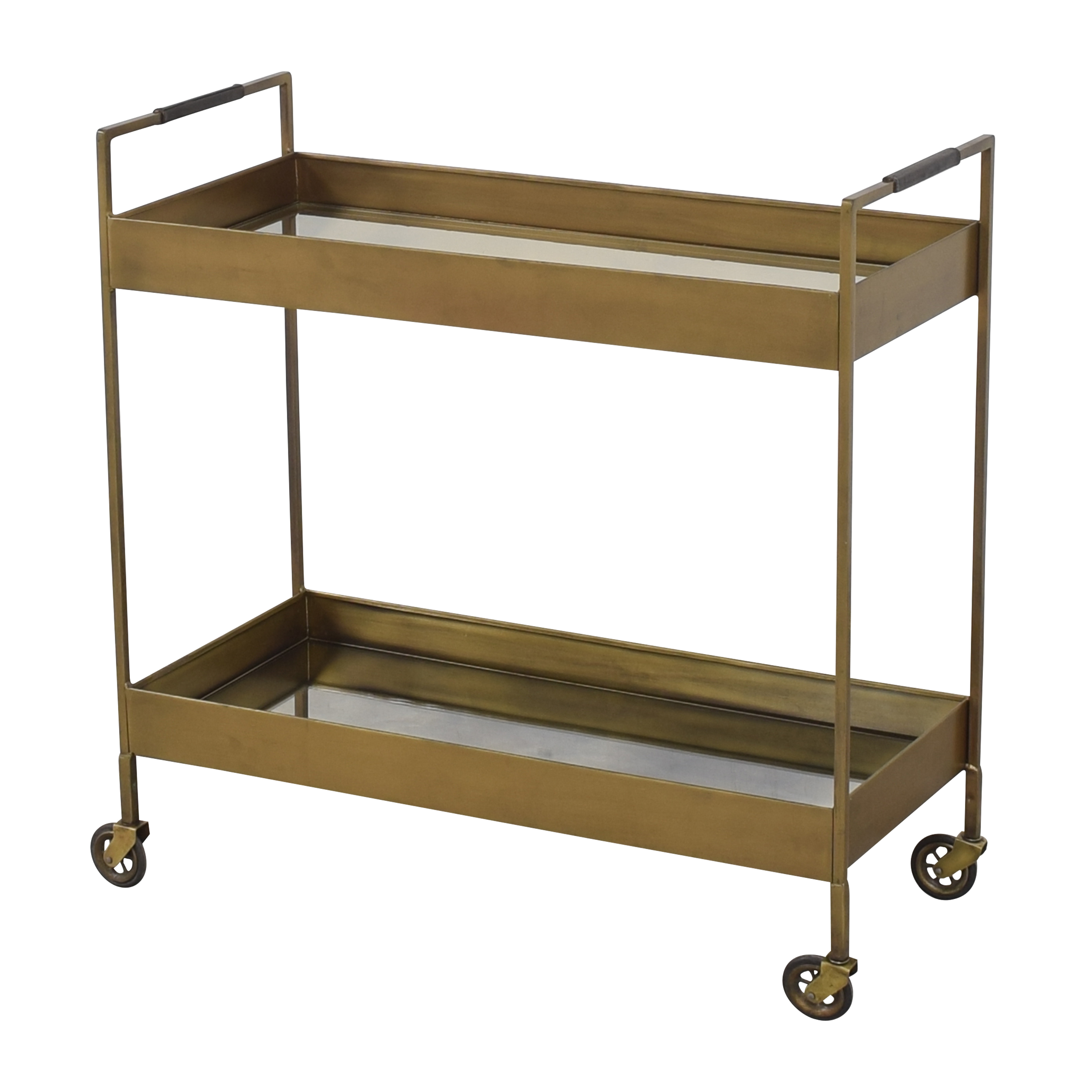 Antique-Style Mirrored Bar Cart ma