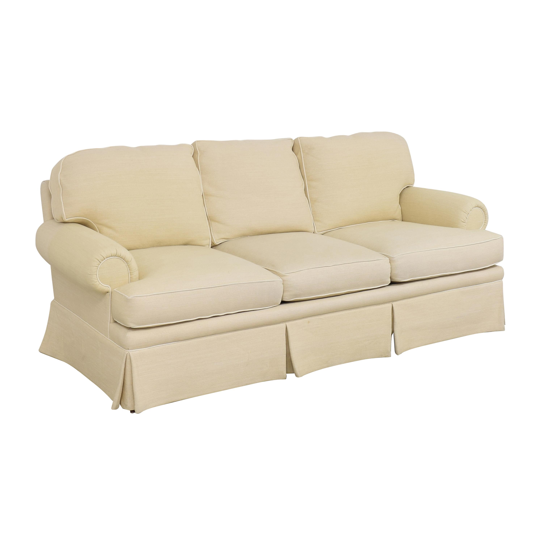 Skirted Roll Arm Sofa dimensions