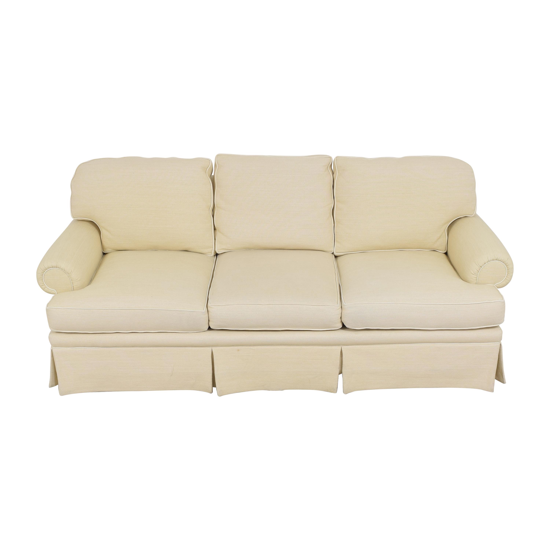 Skirted Roll Arm Sofa coupon