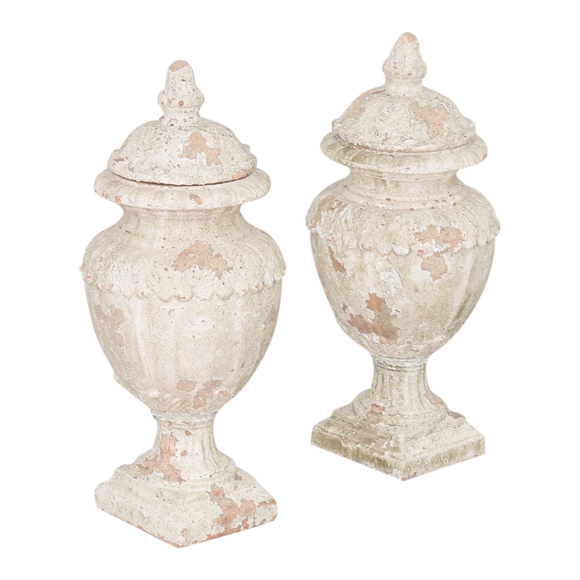 Decorative Distressed Urns / Decorative Accents