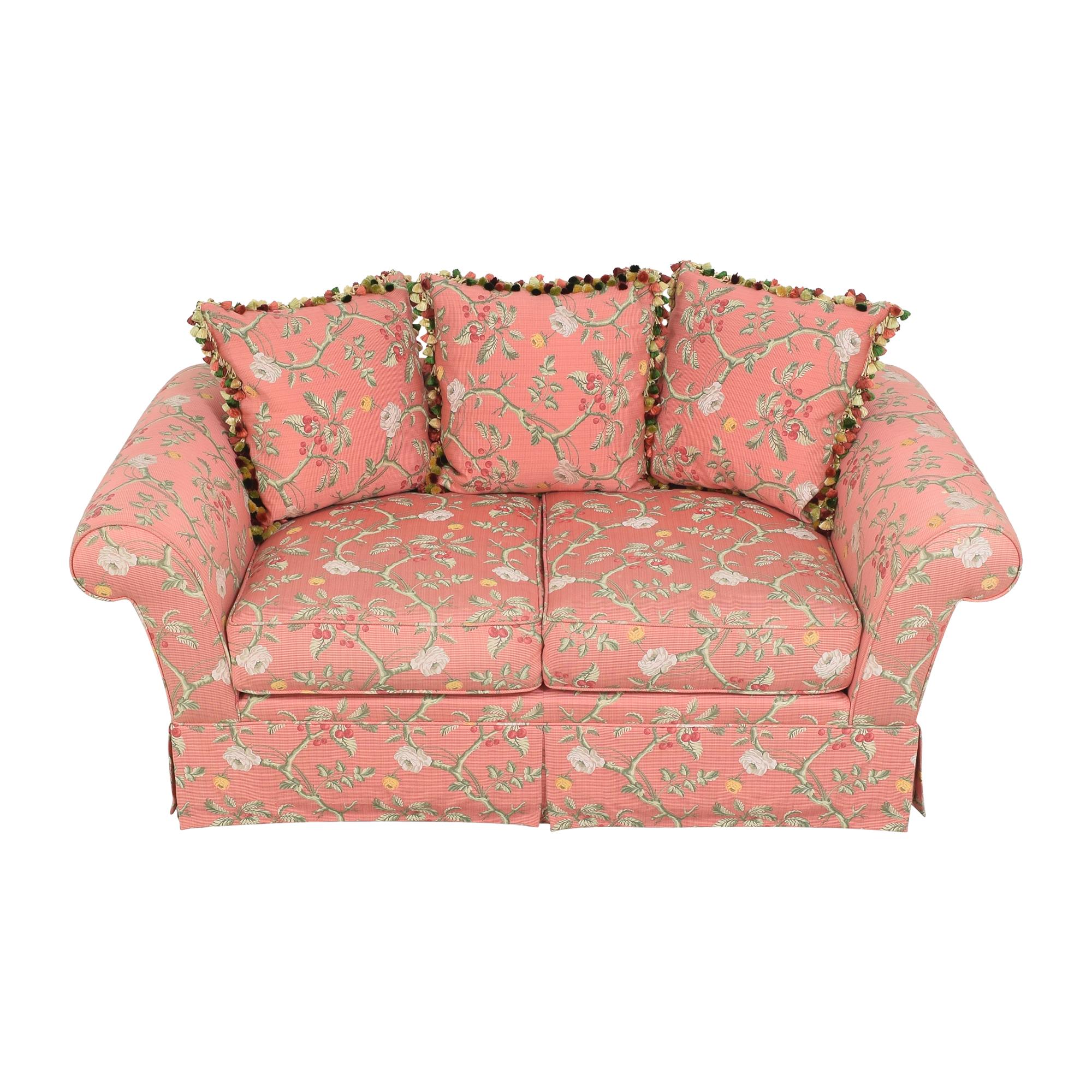 shop Custom Skirted Two Cushion Sofa