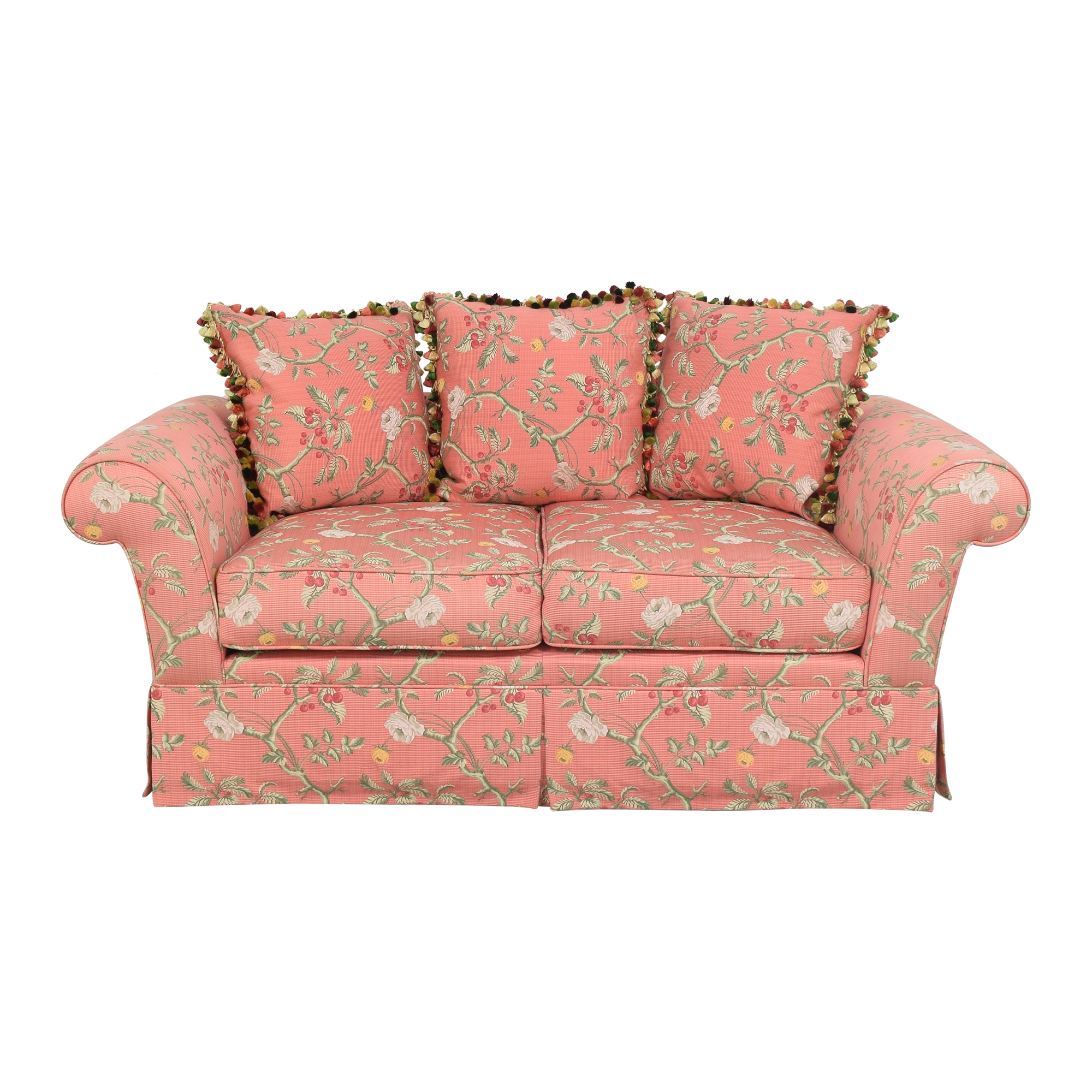 Custom Skirted Two Cushion Sofa coupon