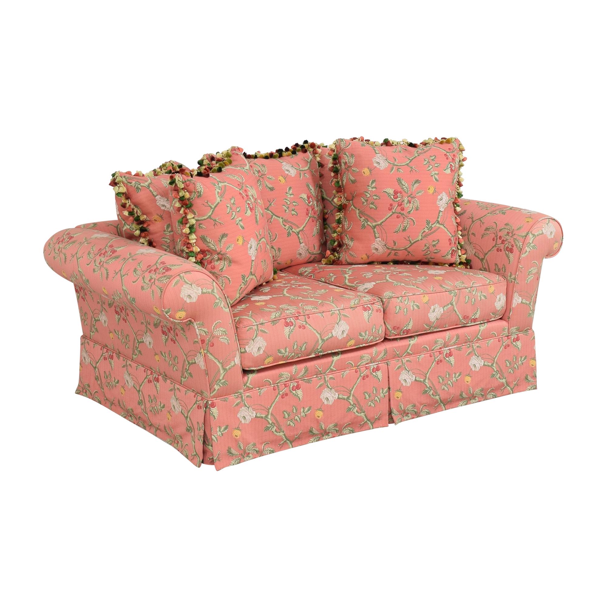 Custom Skirted Two Cushion Sofa ma