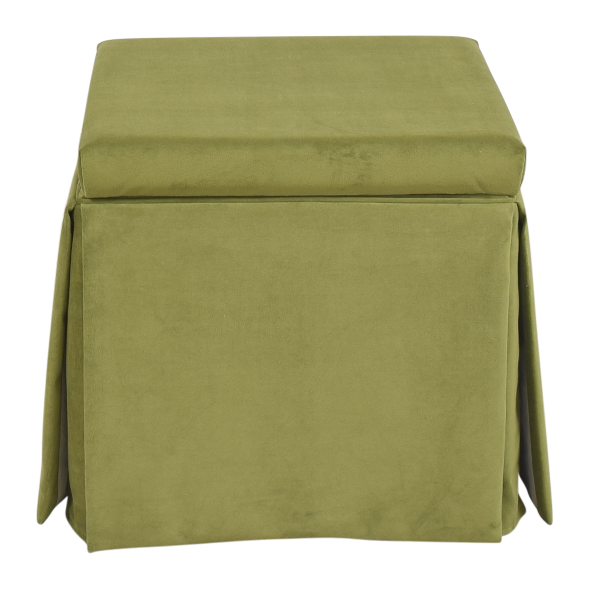 The Inside The Inside Skirted Storage Ottoman ct