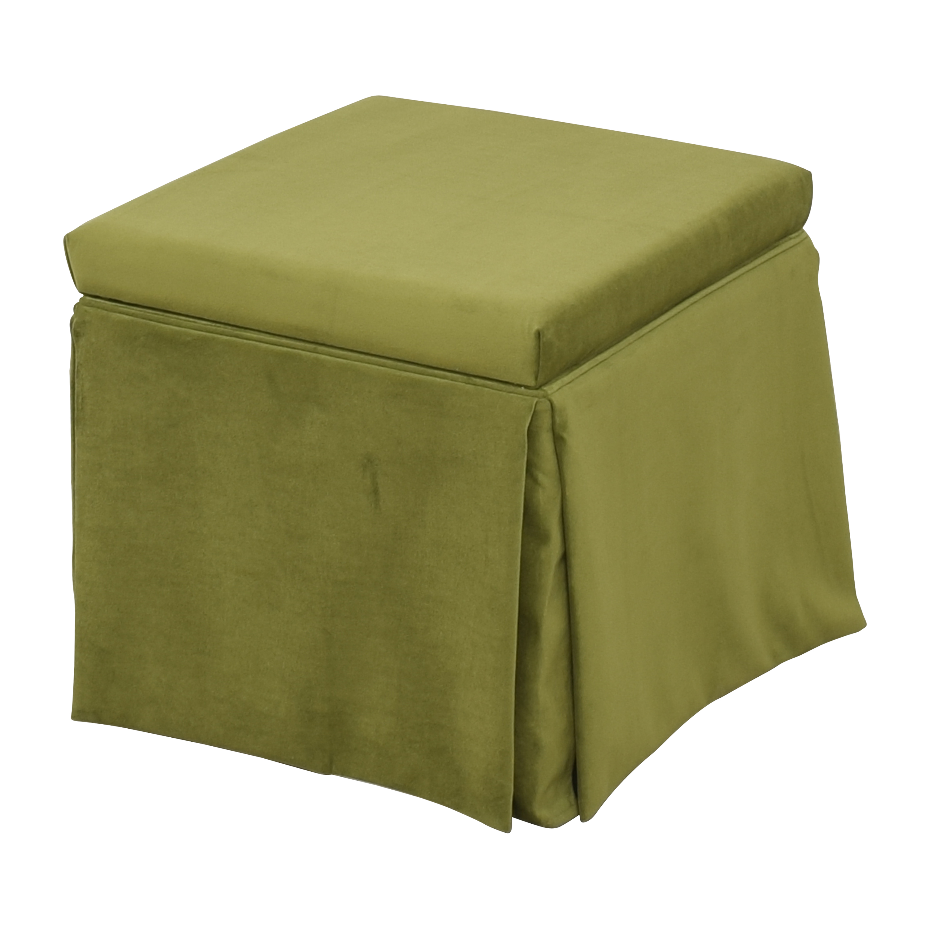 buy The Inside Skirted Storage Ottoman The Inside Chairs