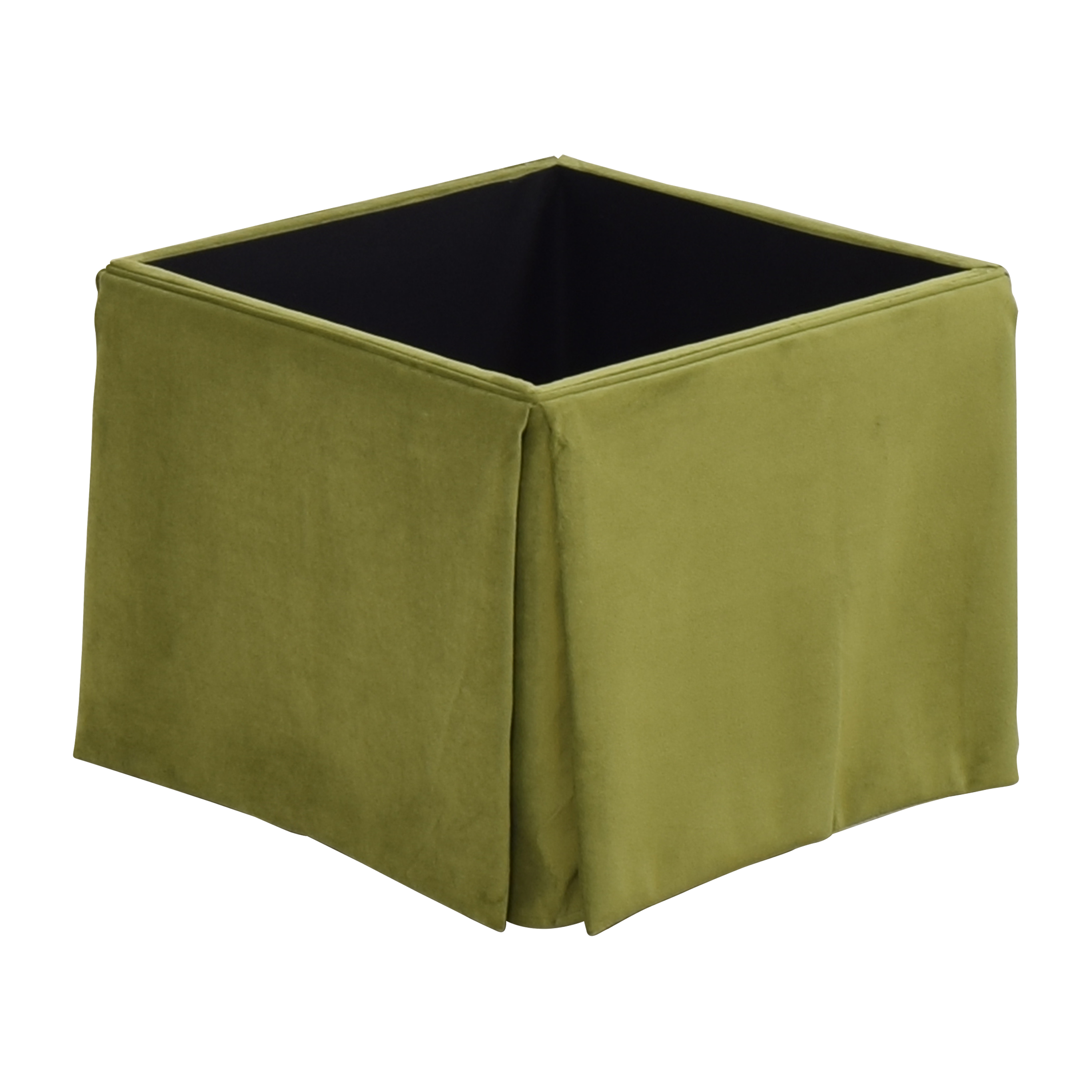 The Inside The Inside Skirted Storage Ottoman second hand