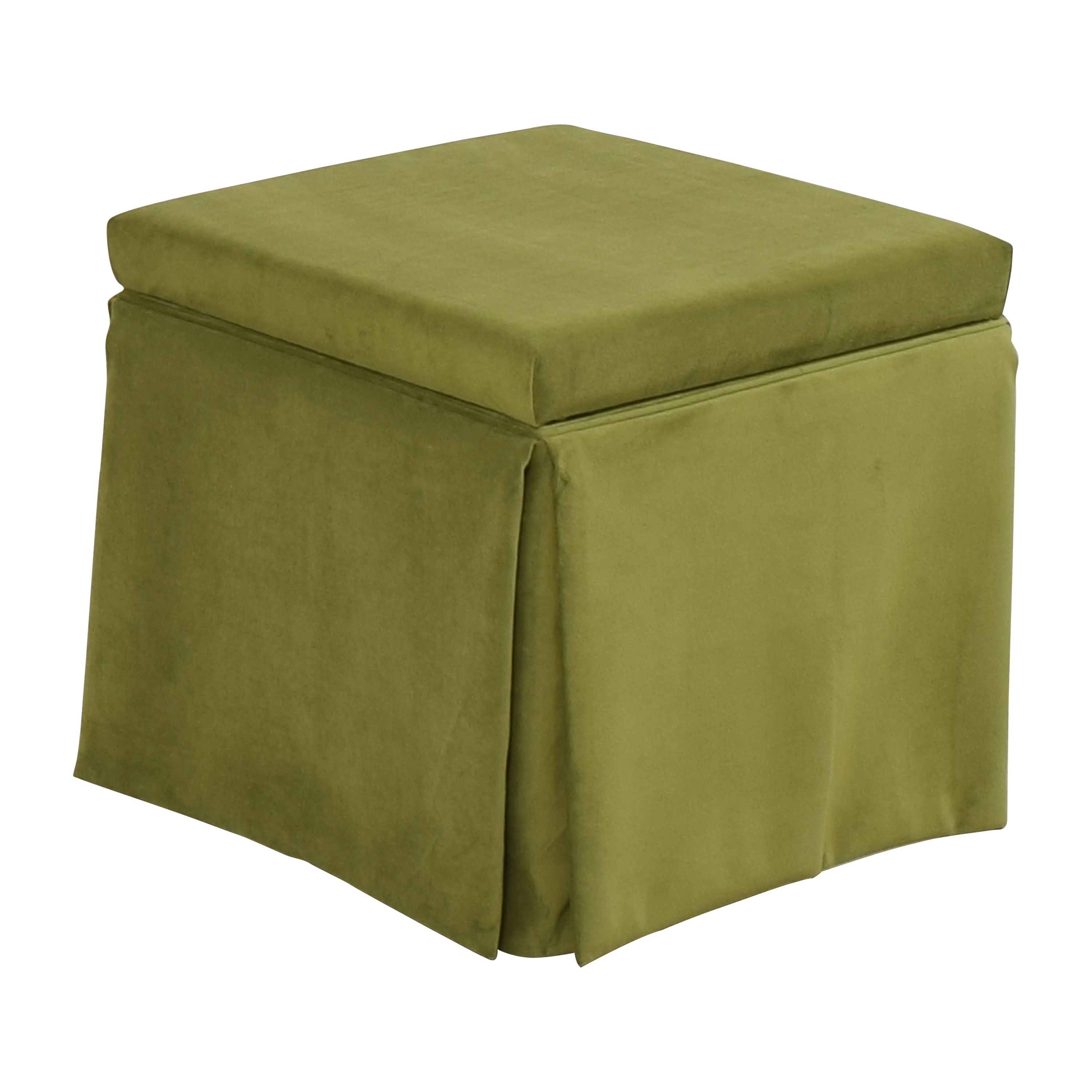 The Inside The Inside Skirted Storage Ottoman dimensions