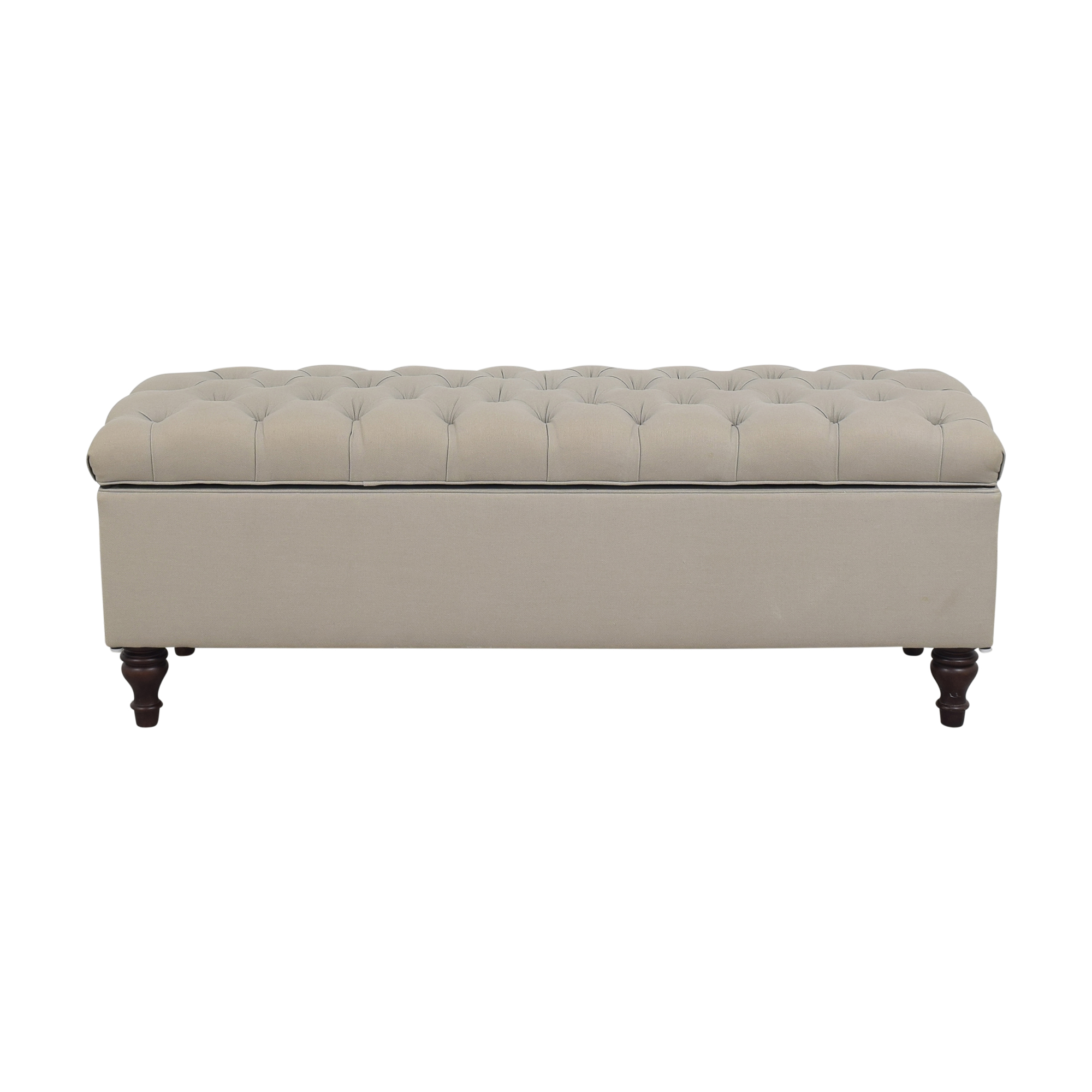 Pottery Barn Pottery Barn Lorraine Tufted Upholstered Queen Storage Bench ct