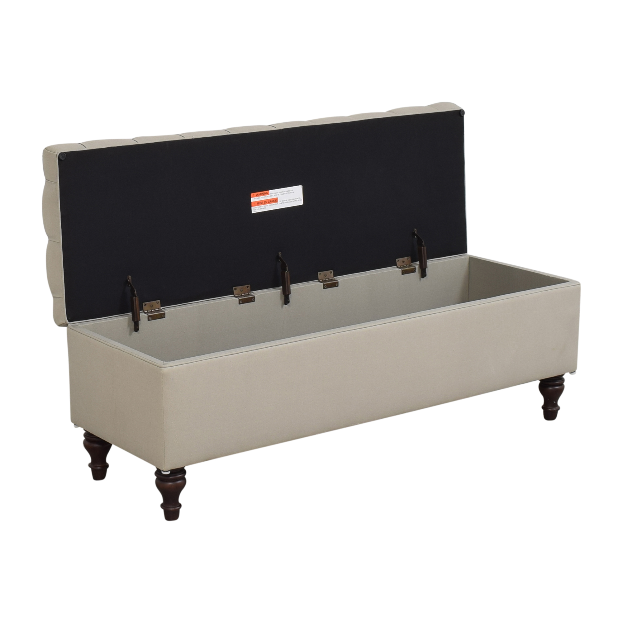 Pottery Barn Pottery Barn Lorraine Tufted Upholstered Queen Storage Bench for sale