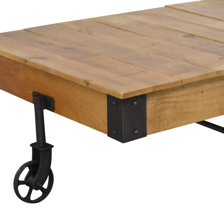 Inspire Q Inspire Q Myra Industrial Rustic Coffee Table nyc