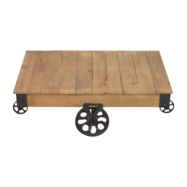 Inspire Q Myra Industrial Rustic Coffee Table Inspire Q