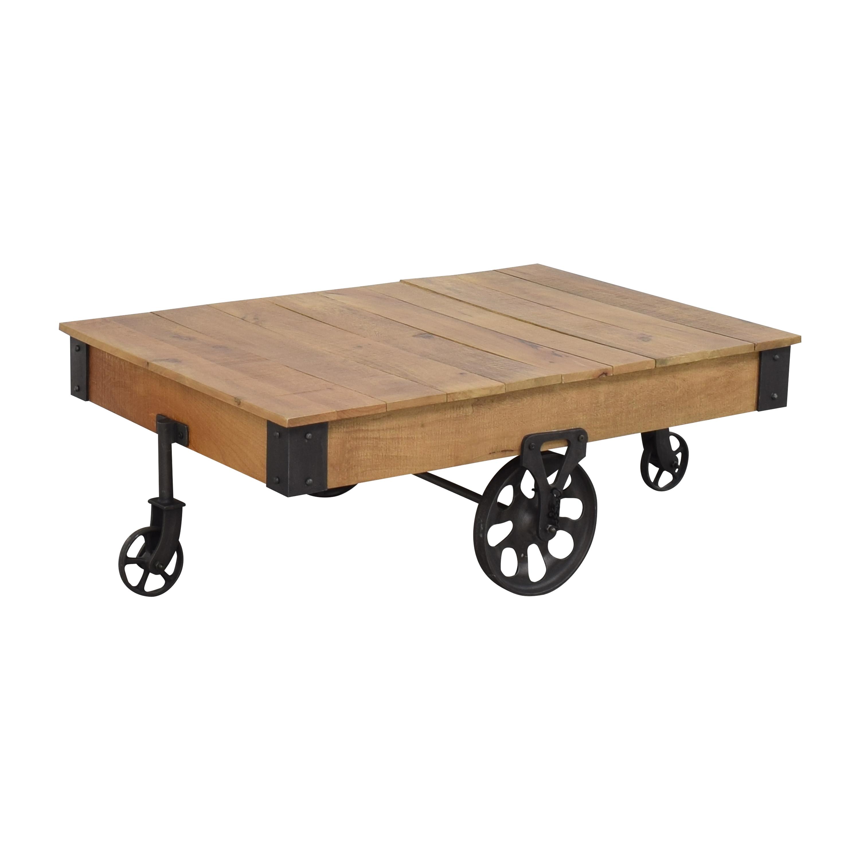 buy Inspire Q Myra Industrial Rustic Coffee Table Inspire Q Coffee Tables