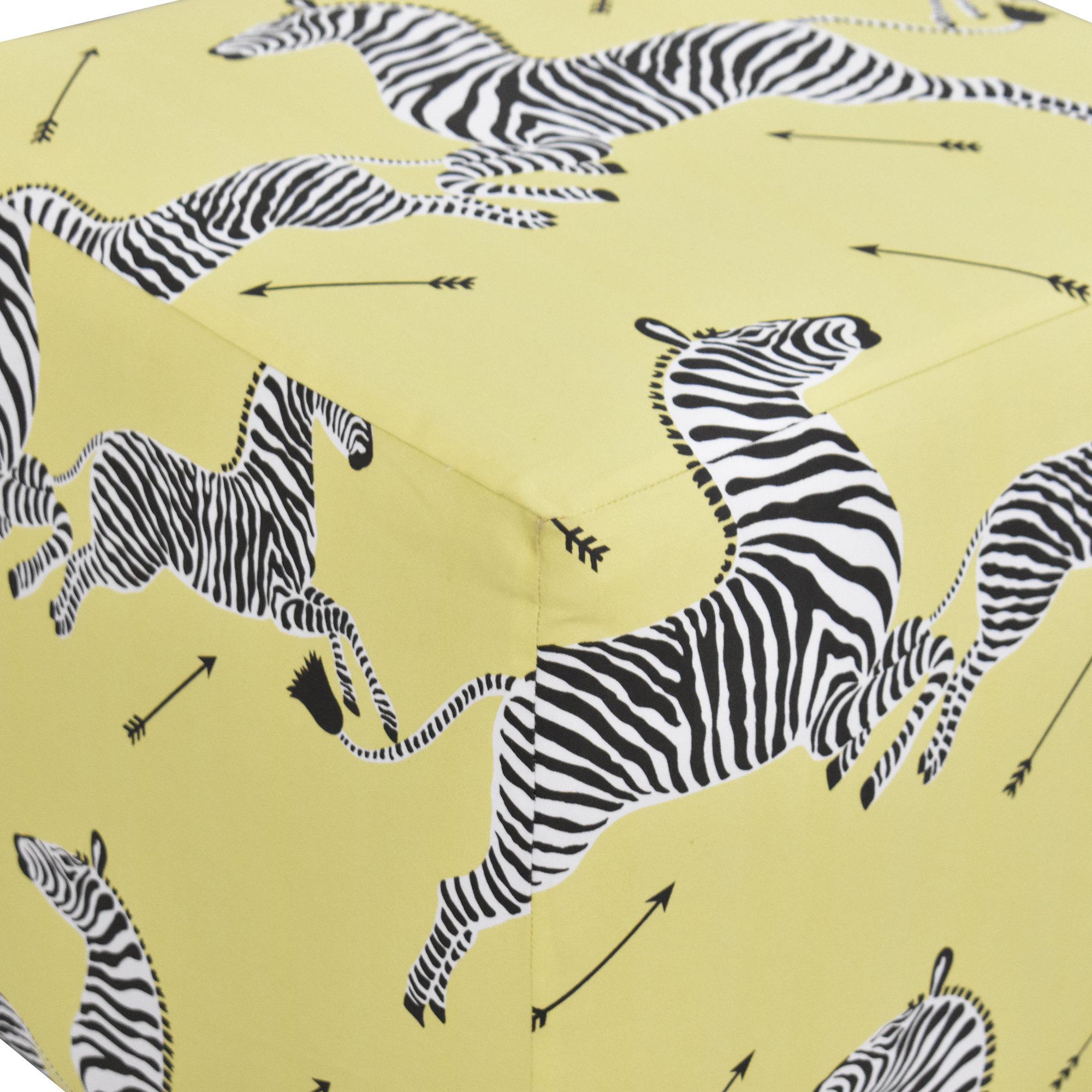 buy The Inside The Inside Zebra Cube Ottoman online