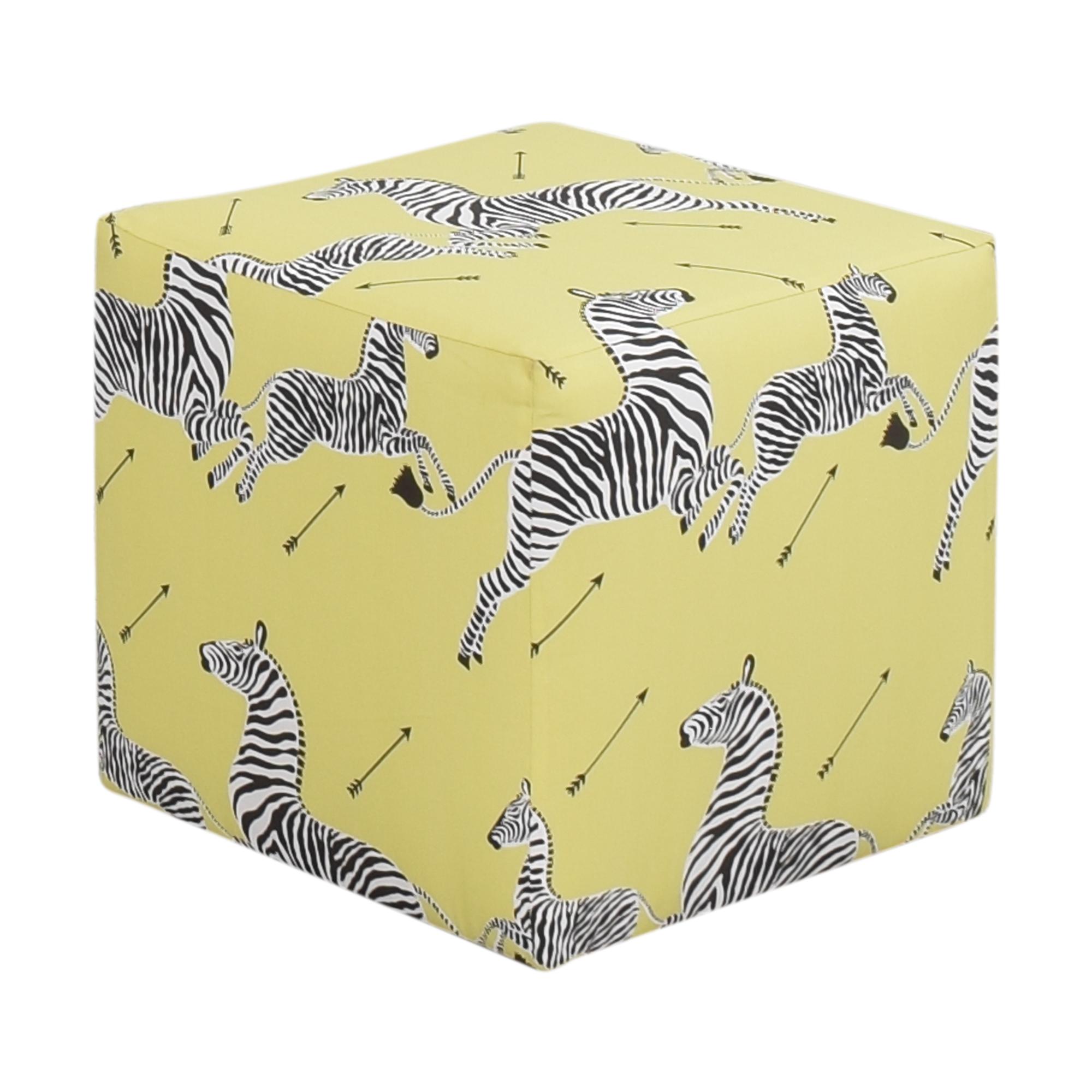 The Inside Zebra Cube Ottoman / Chairs