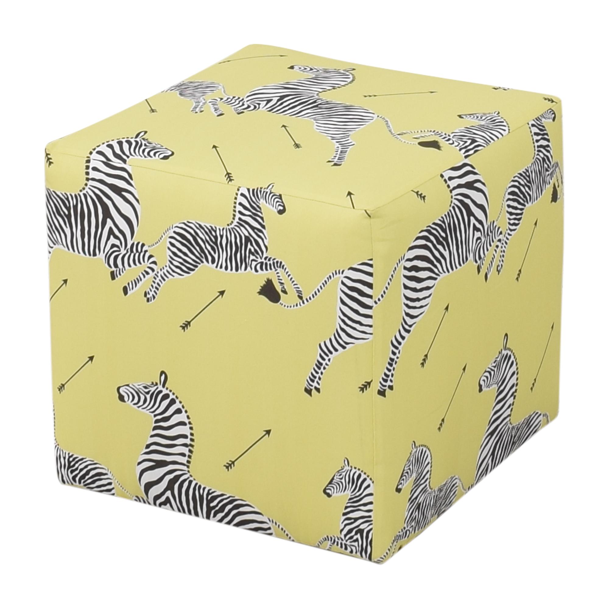 The Inside The Inside Zebra Cube Ottoman pa