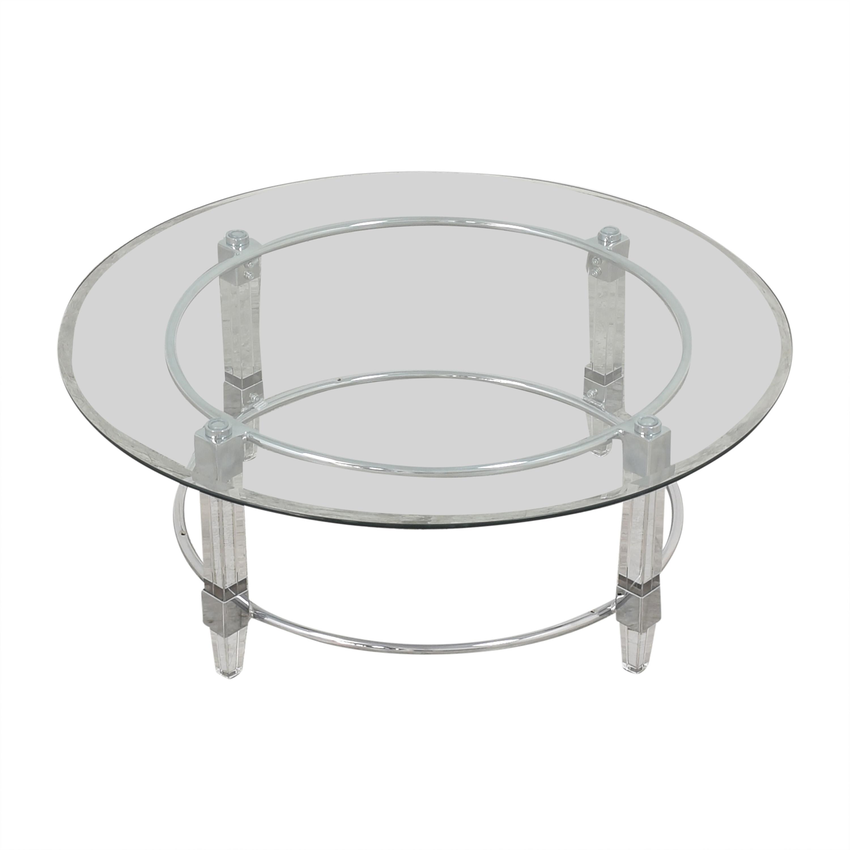 Raymour & Flanigan Raymour & Flanigan Greta Round Cocktail Table price