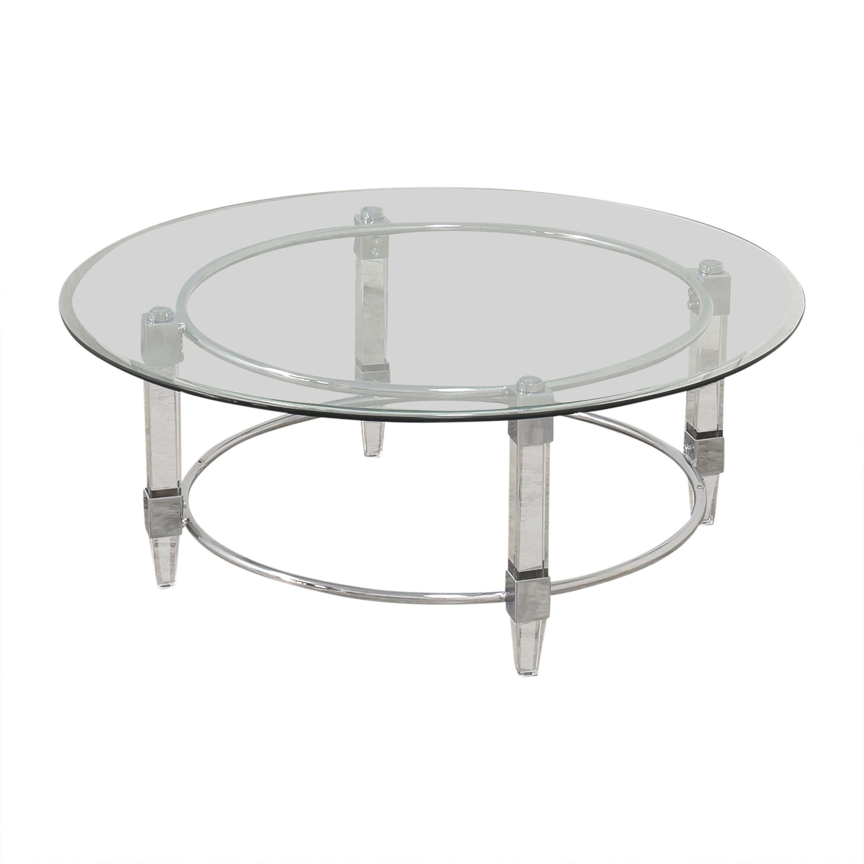 Raymour & Flanigan Raymour & Flanigan Greta Round Cocktail Table used