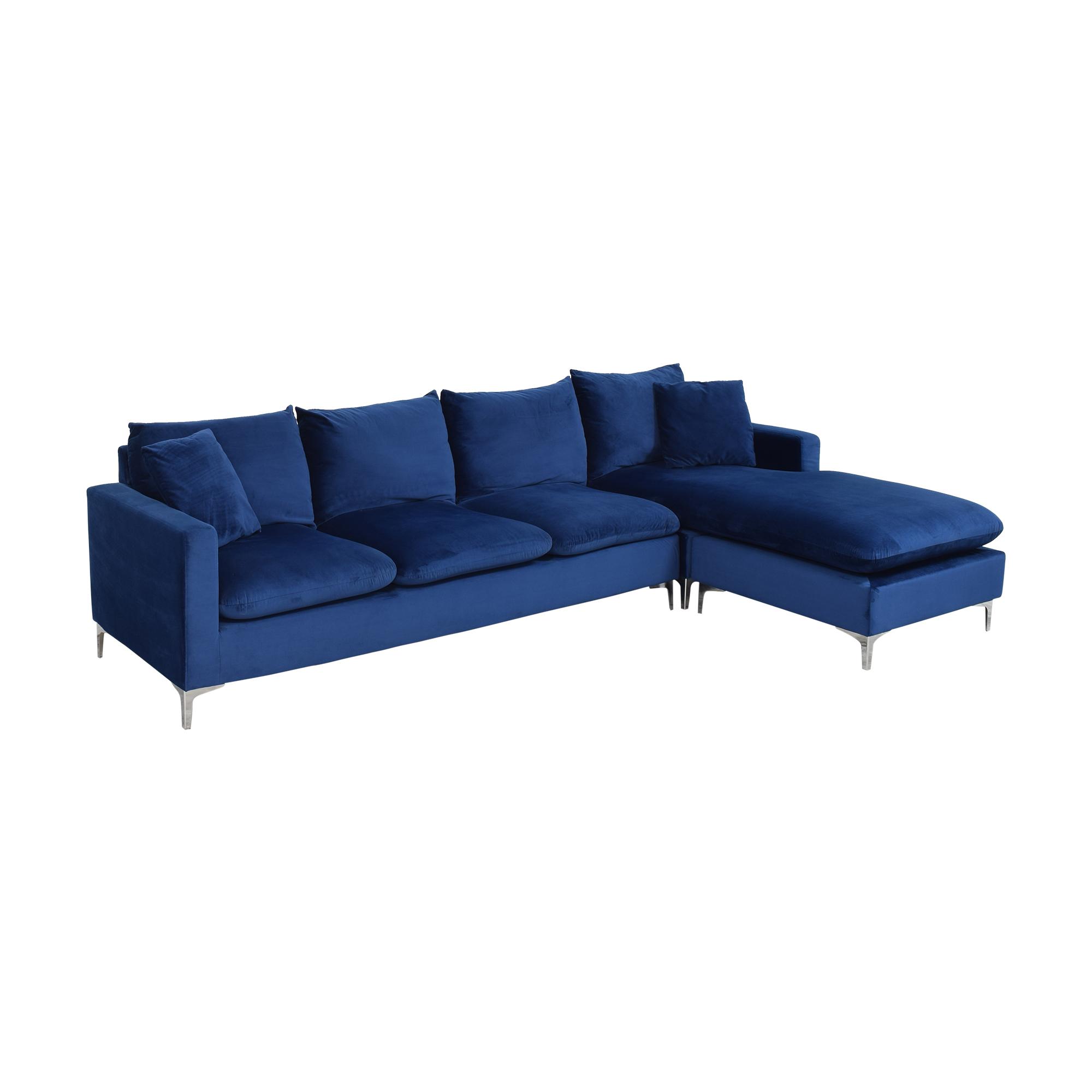 Wayfair Wayfair Boutwell Reversible Sectional Sofa blue