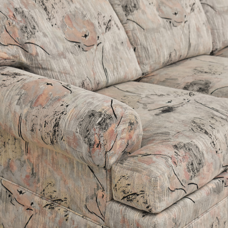 Ethan Allen Ethan Allen Three Cushion Floral Sofa ma