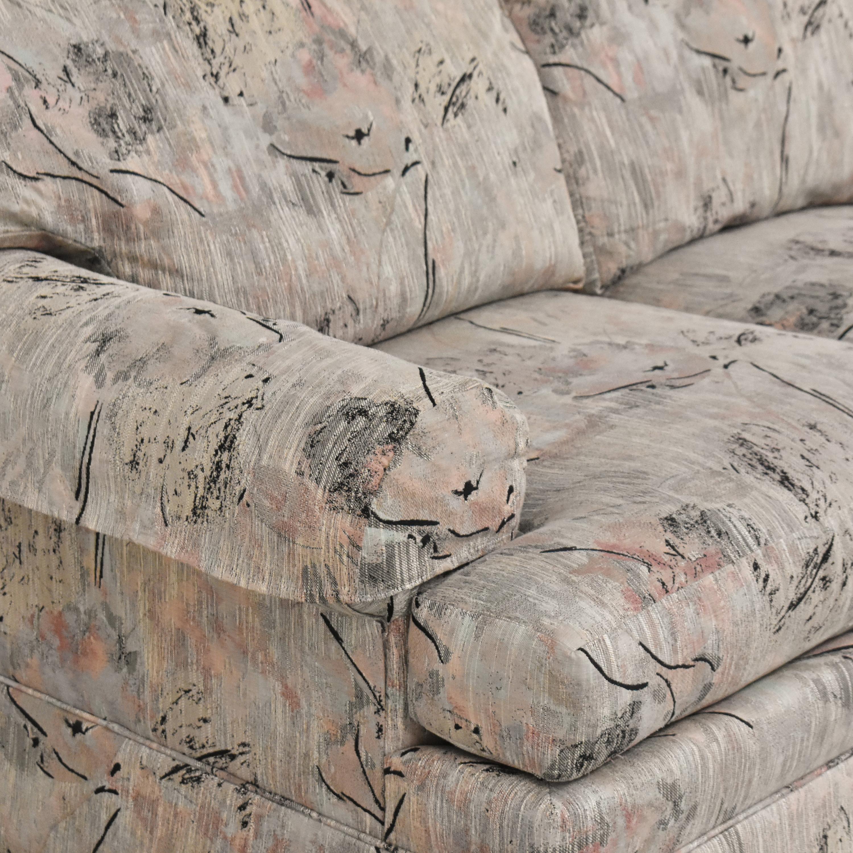 Ethan Allen Ethan Allen Two Cushion Floral Loveseat Sofas