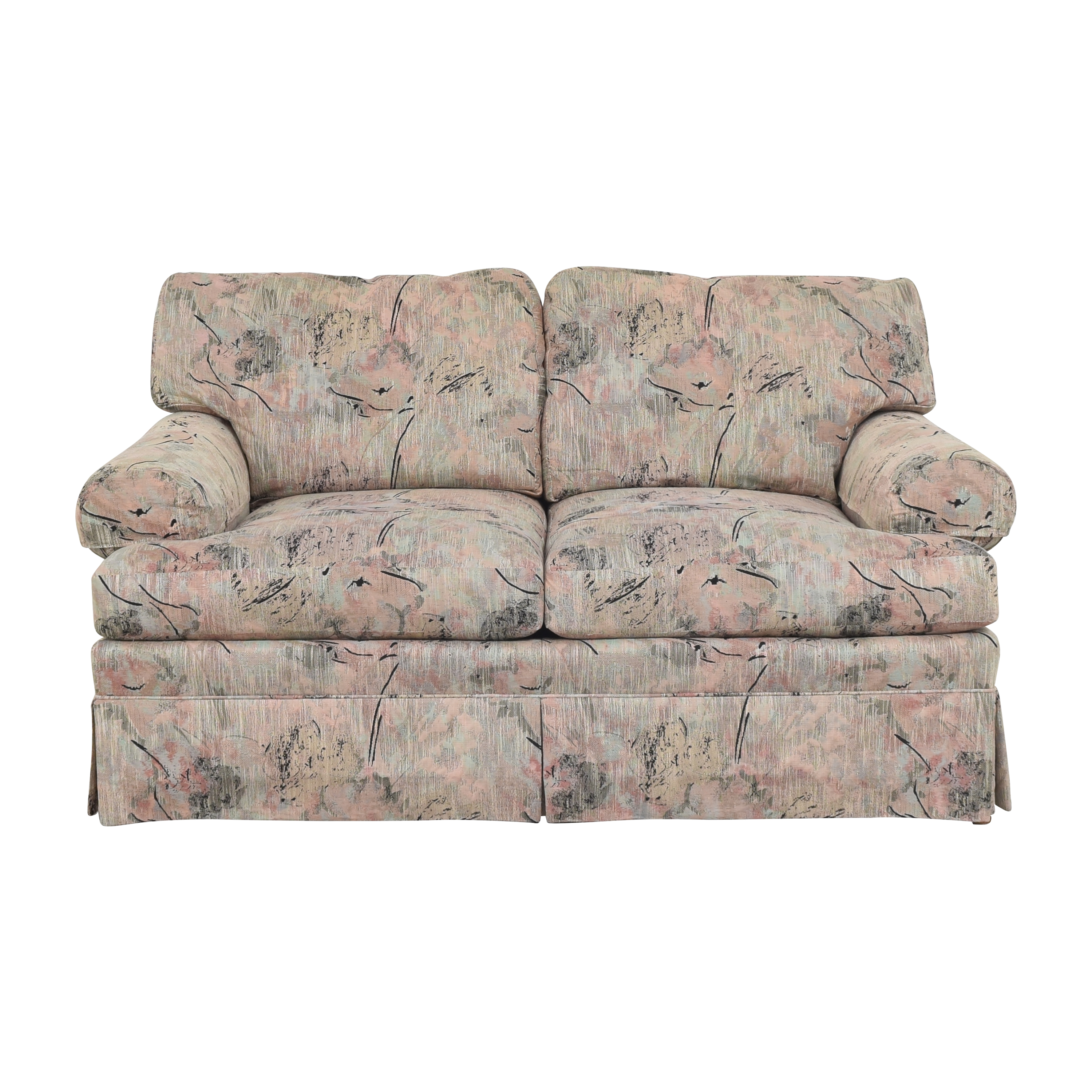 Ethan Allen Ethan Allen Two Cushion Floral Loveseat for sale