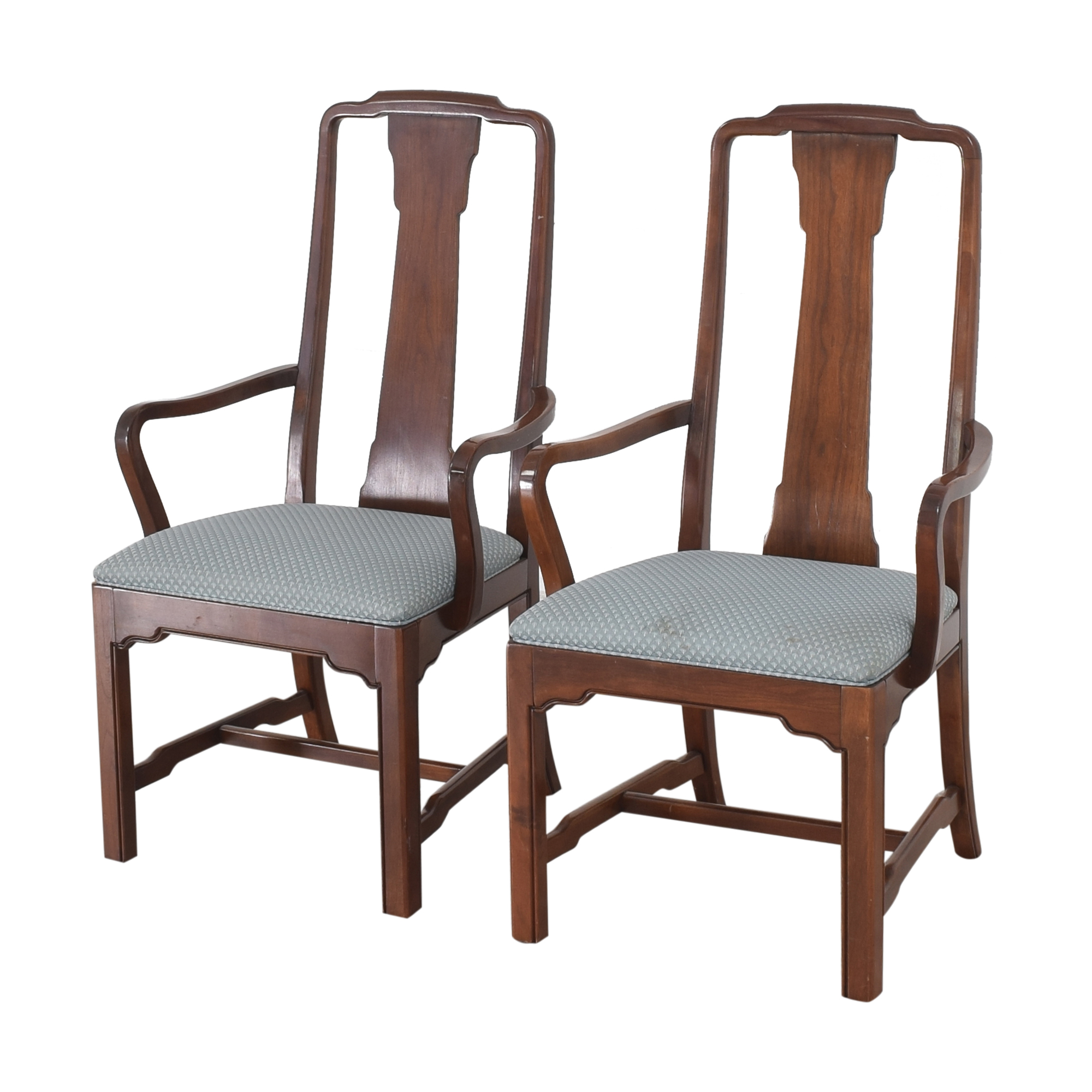 Ethan Allen Ethan Allen Canova Campaign Dining Arm Chairs coupon