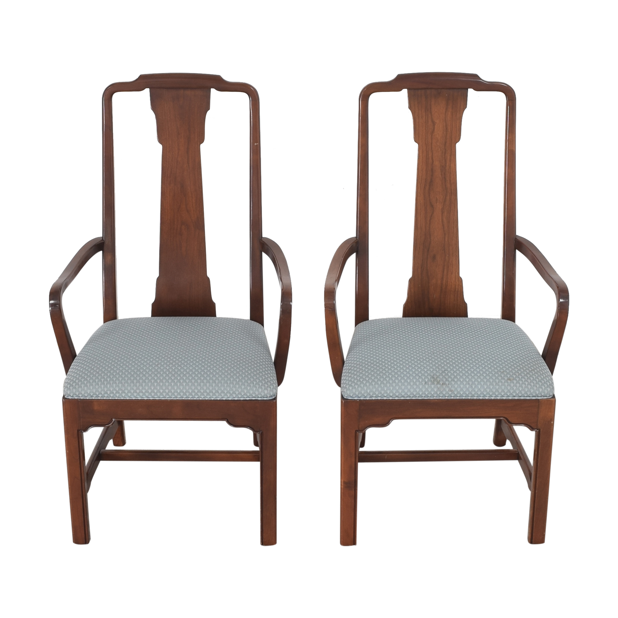 Ethan Allen Ethan Allen Canova Campaign Dining Arm Chairs discount