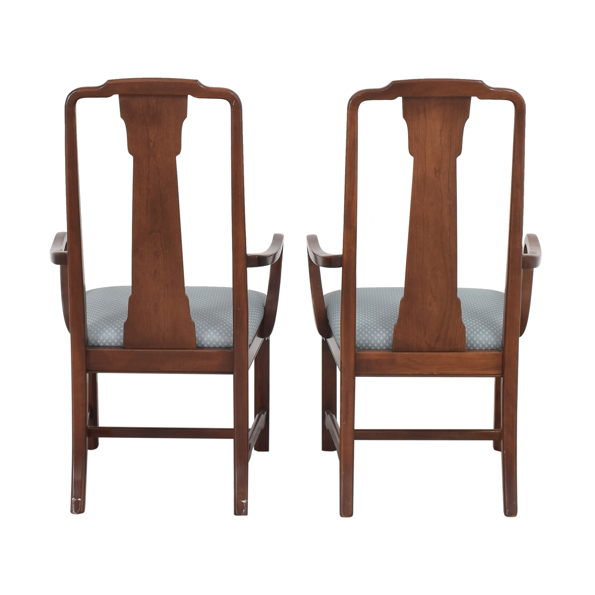Ethan Allen Canova Campaign Dining Arm Chairs sale