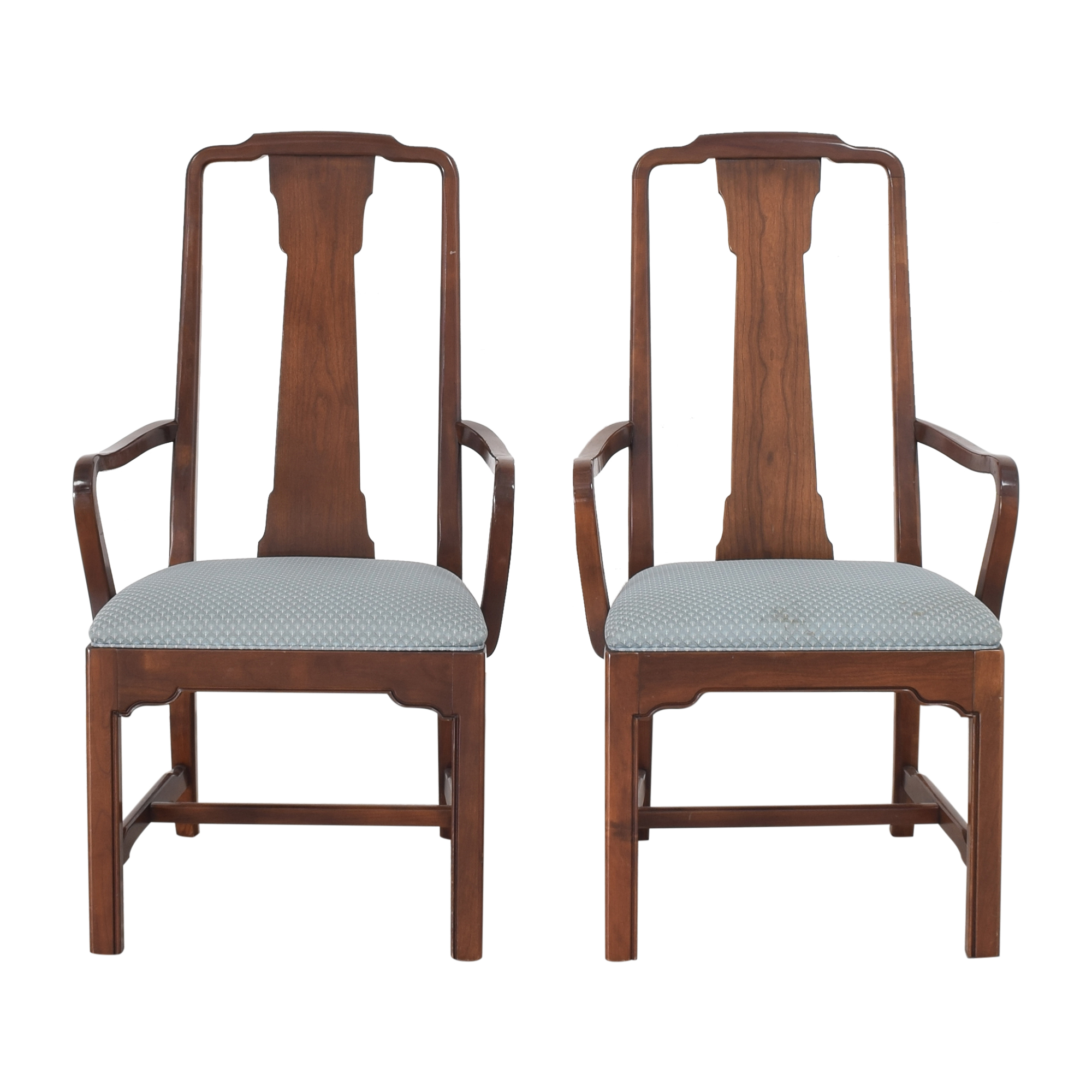 Ethan Allen Ethan Allen Canova Campaign Dining Arm Chairs ma