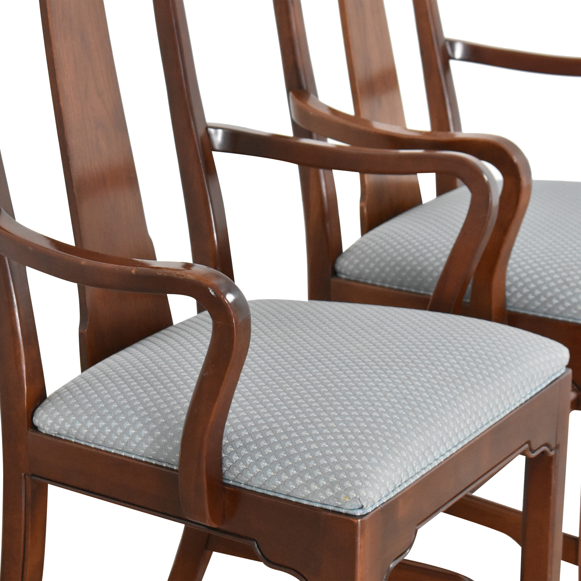 Ethan Allen Ethan Allen Canova Campaign Dining Arm Chairs Chairs
