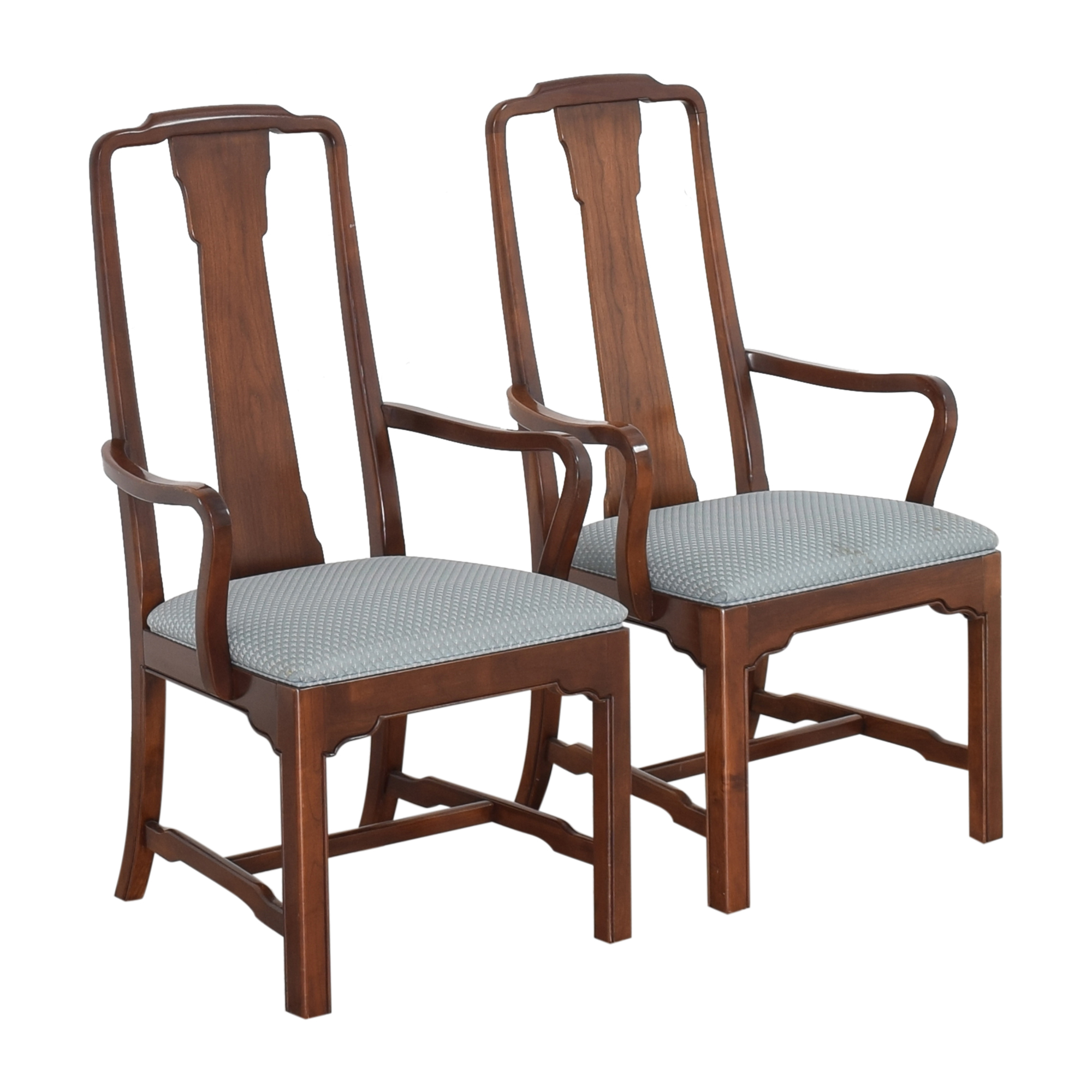 shop Ethan Allen Canova Campaign Dining Arm Chairs Ethan Allen Chairs