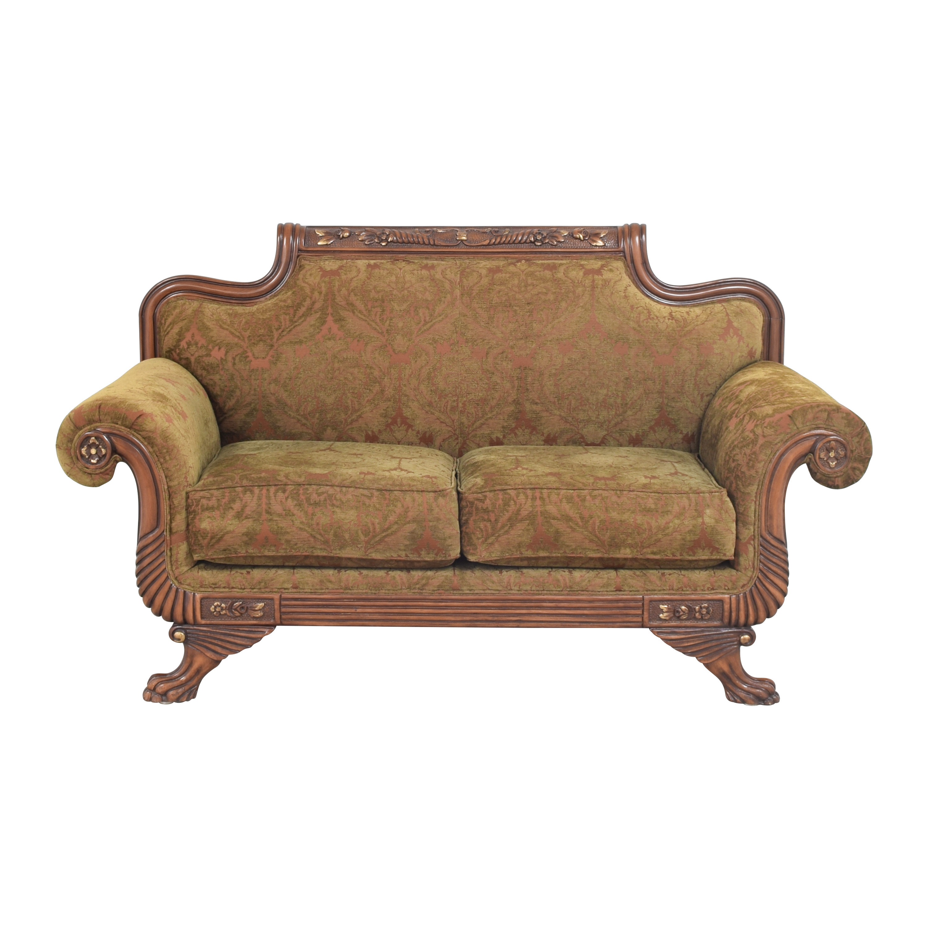 Francesca Imports Francesca Imports Duncan Phyfe-Style Roll Arm Loveseat used