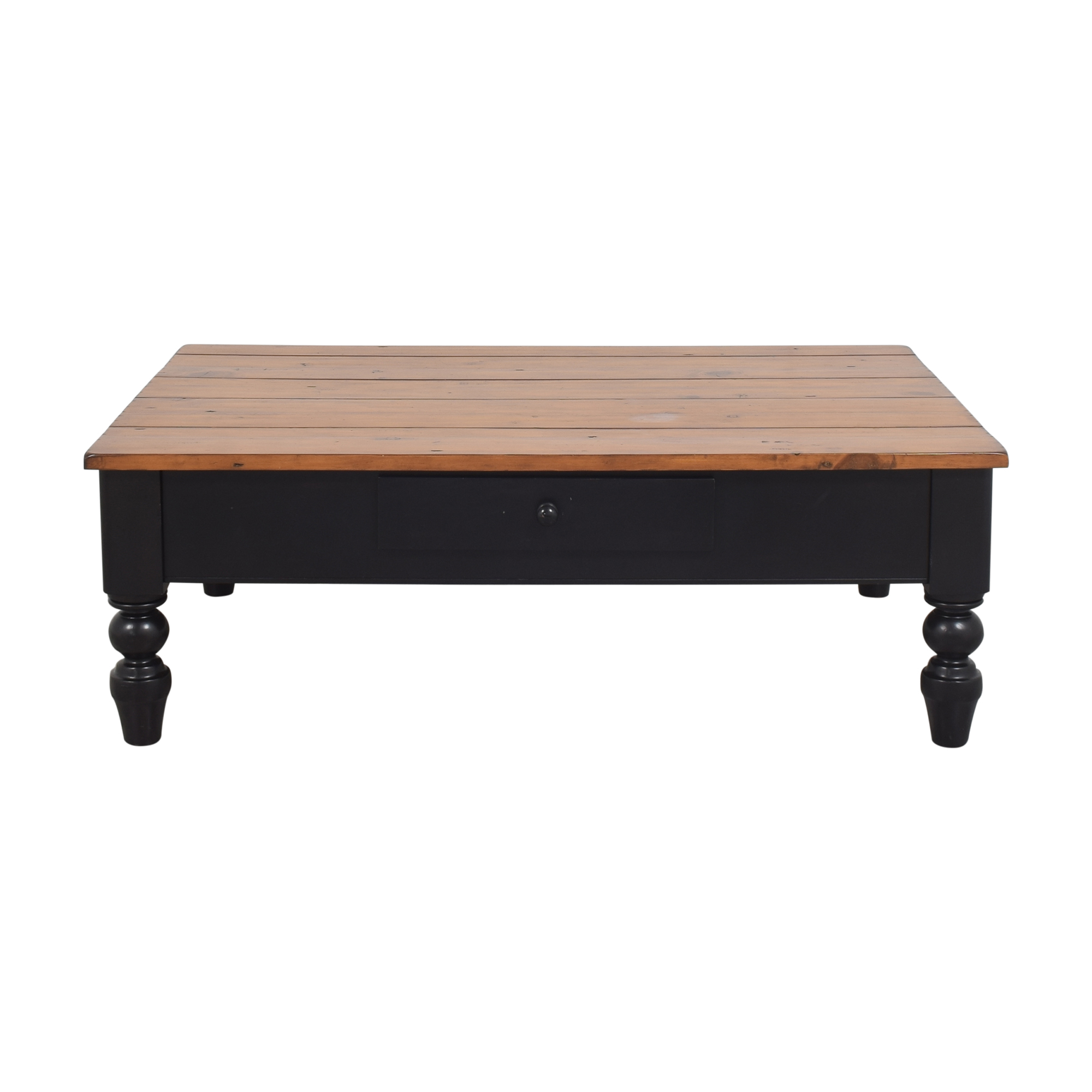 Pottery Barn Pottery Barn Coffee Table with Drawer  brown and black