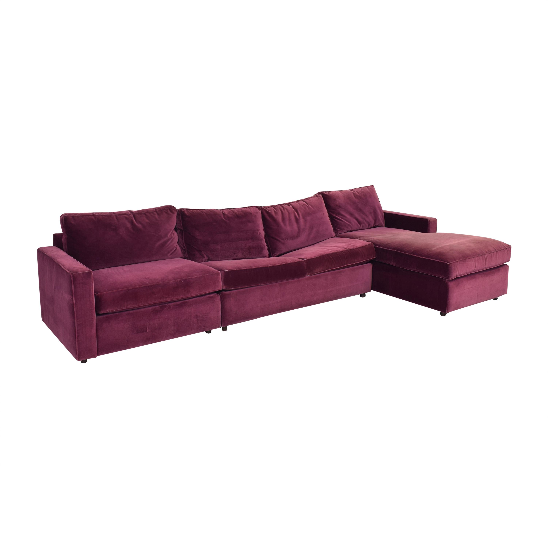 Room & Board Room & Board York Three Piece Sleeper Sectional Sofa discount