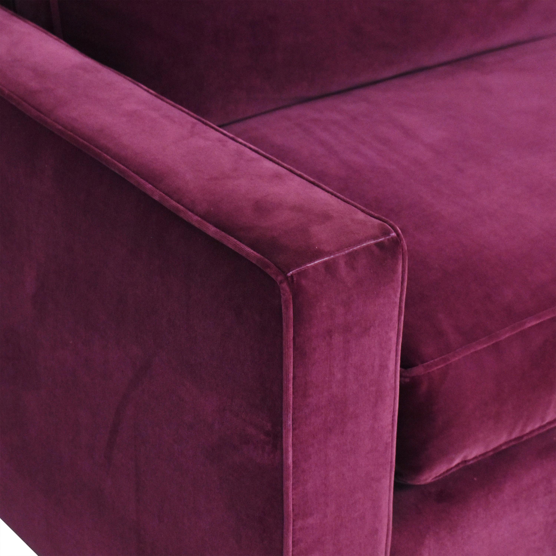 Room & Board Room & Board York Three Piece Sleeper Sectional Sofa purple