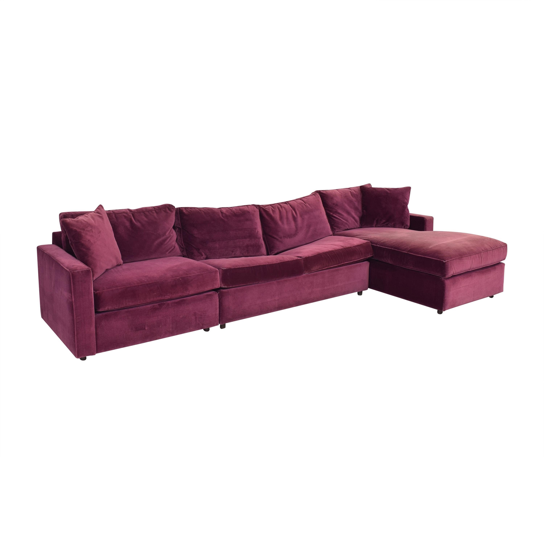 Room & Board Room & Board York Three Piece Sleeper Sectional Sofa nj