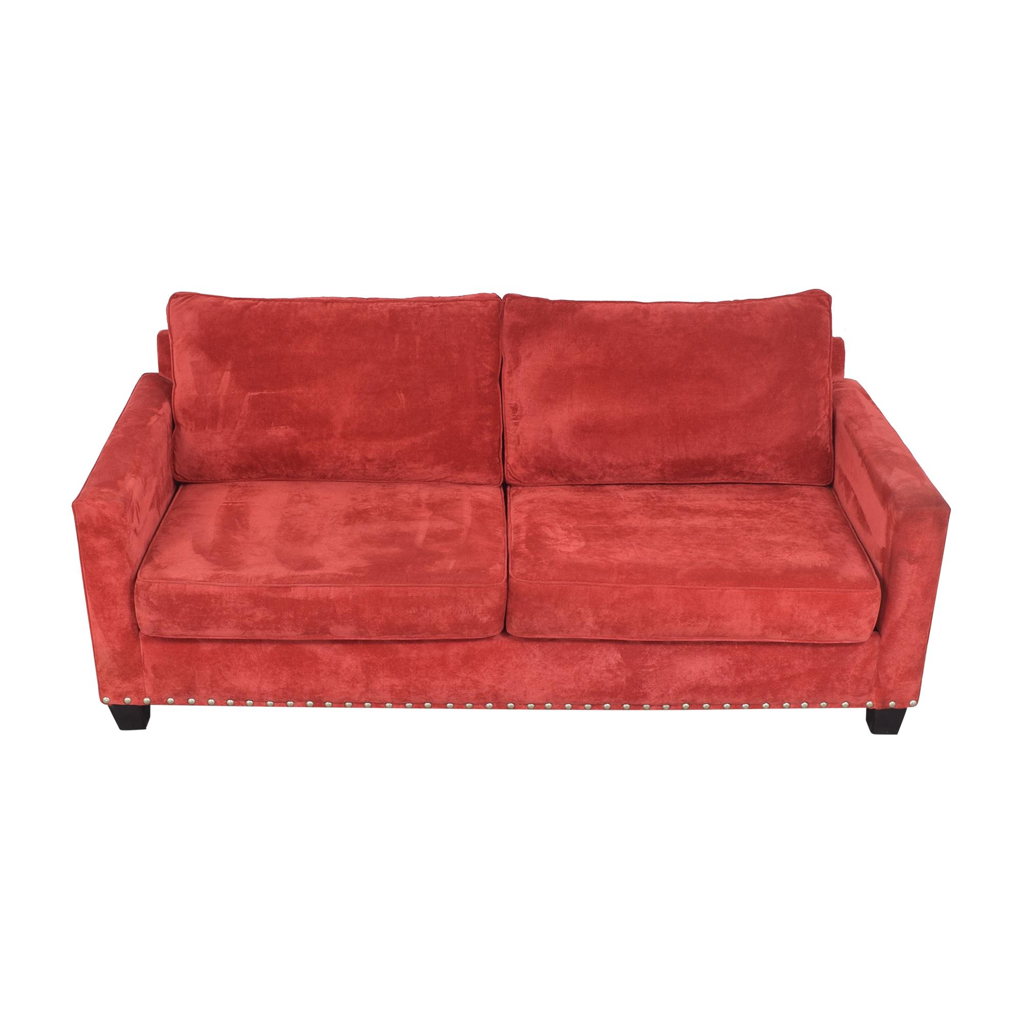 May Furniture May Furniture Nailhead Diamond Tufted Sofa coupon