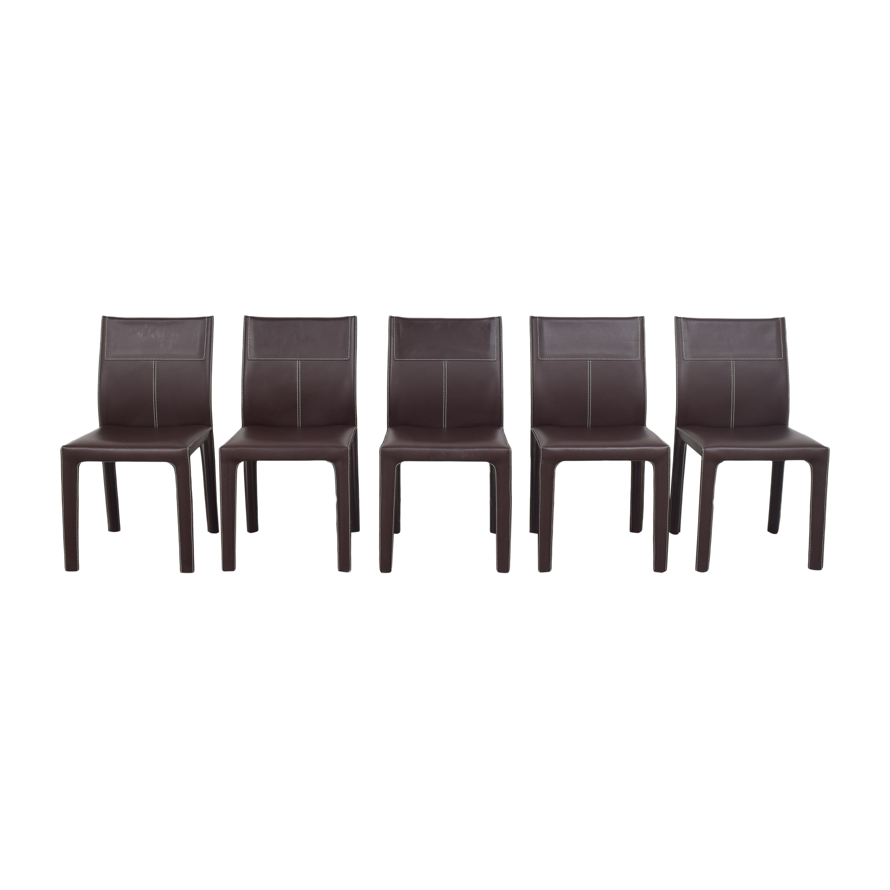 Italstudio Italstudio for Roche Bobois Contrast Stitched Dining Chairs Chairs