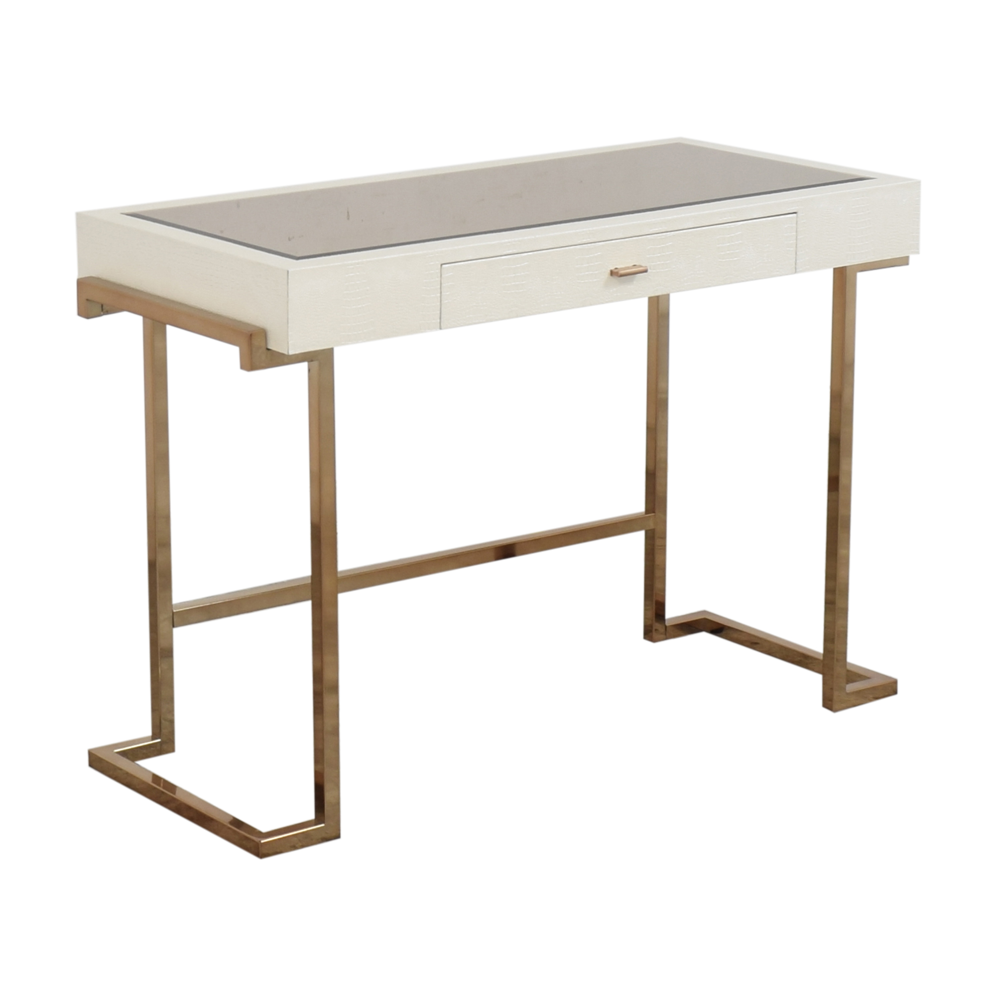 Acme Acme White Rectangular One Drawer Writing Desk nj