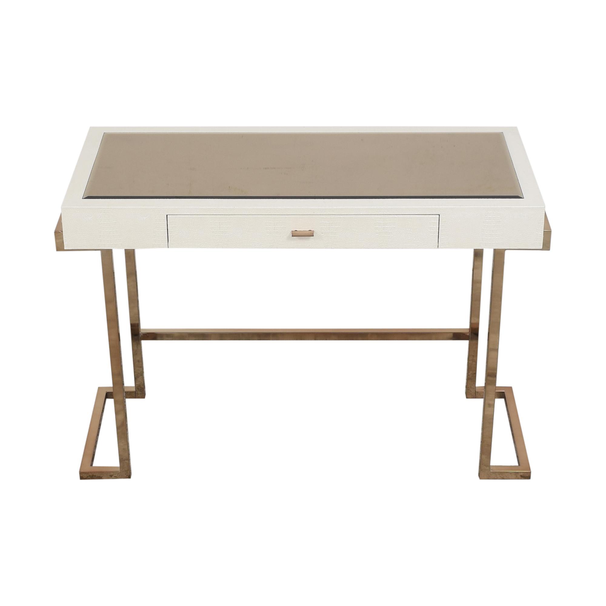 buy Acme White Rectangular One Drawer Writing Desk Acme Tables