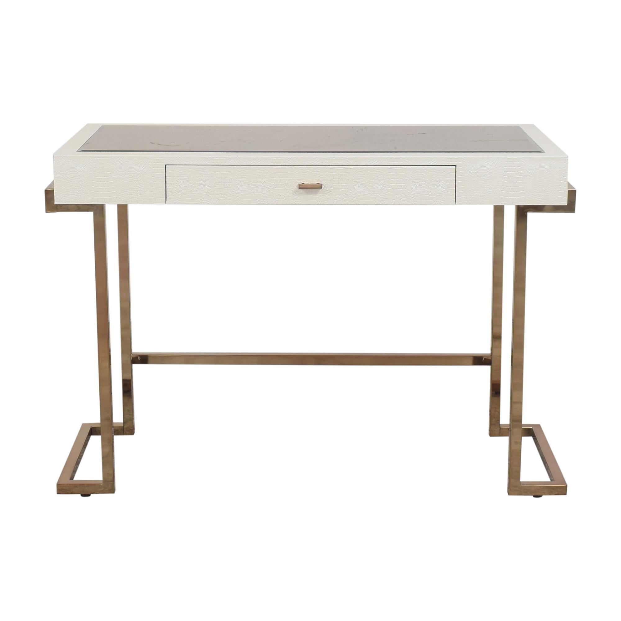 Acme White Rectangular One Drawer Writing Desk / Home Office Desks