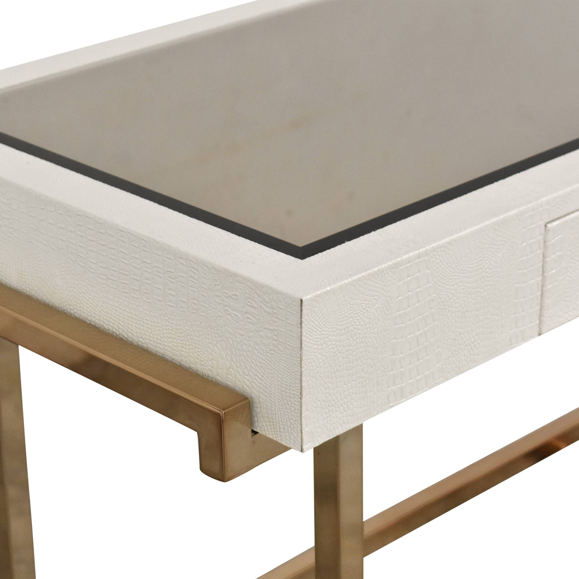 buy Acme White Rectangular One Drawer Writing Desk Acme