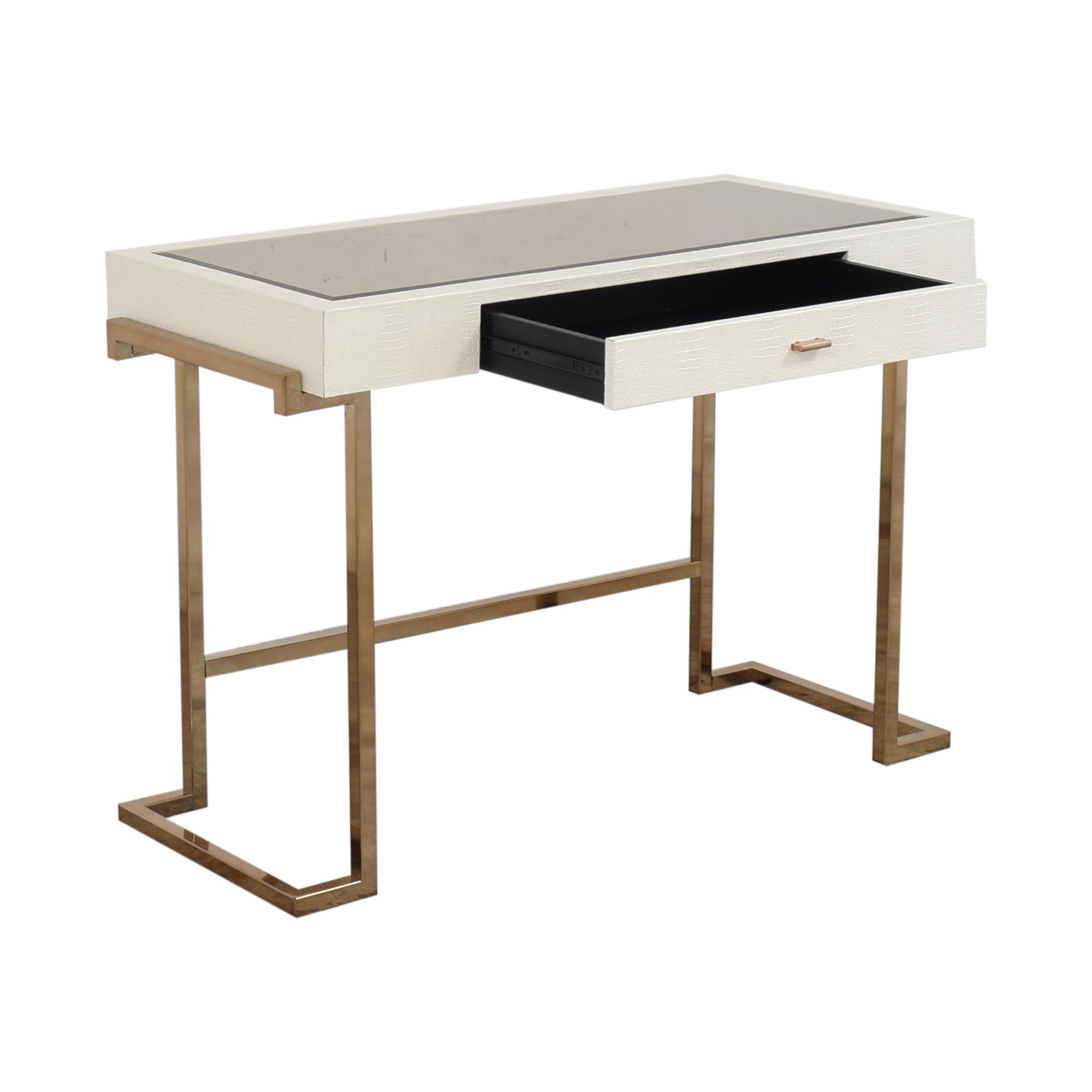 Acme Acme White Rectangular One Drawer Writing Desk dimensions