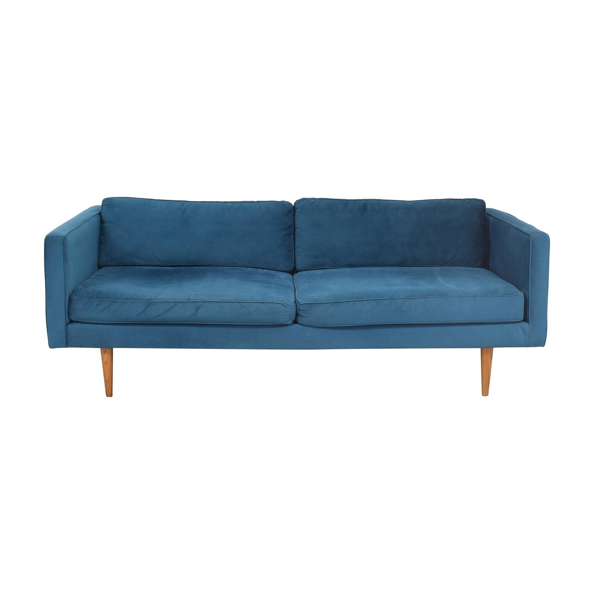 West Elm Monroe Mid Century Sofa sale