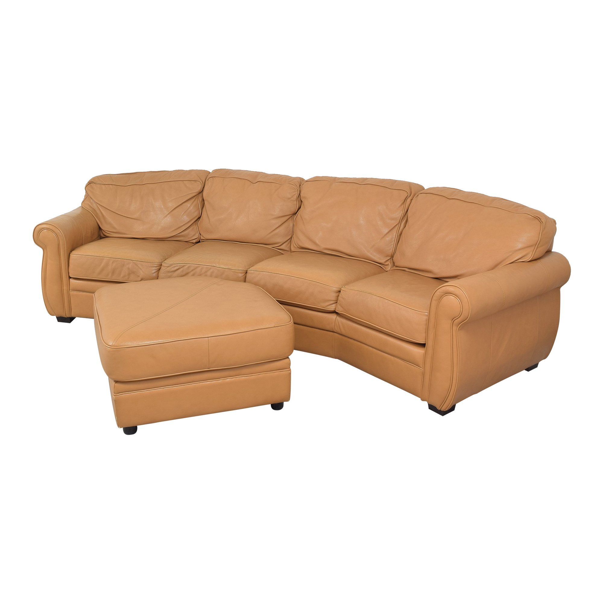 shop Two Piece Sectional Sofa with Ottoman