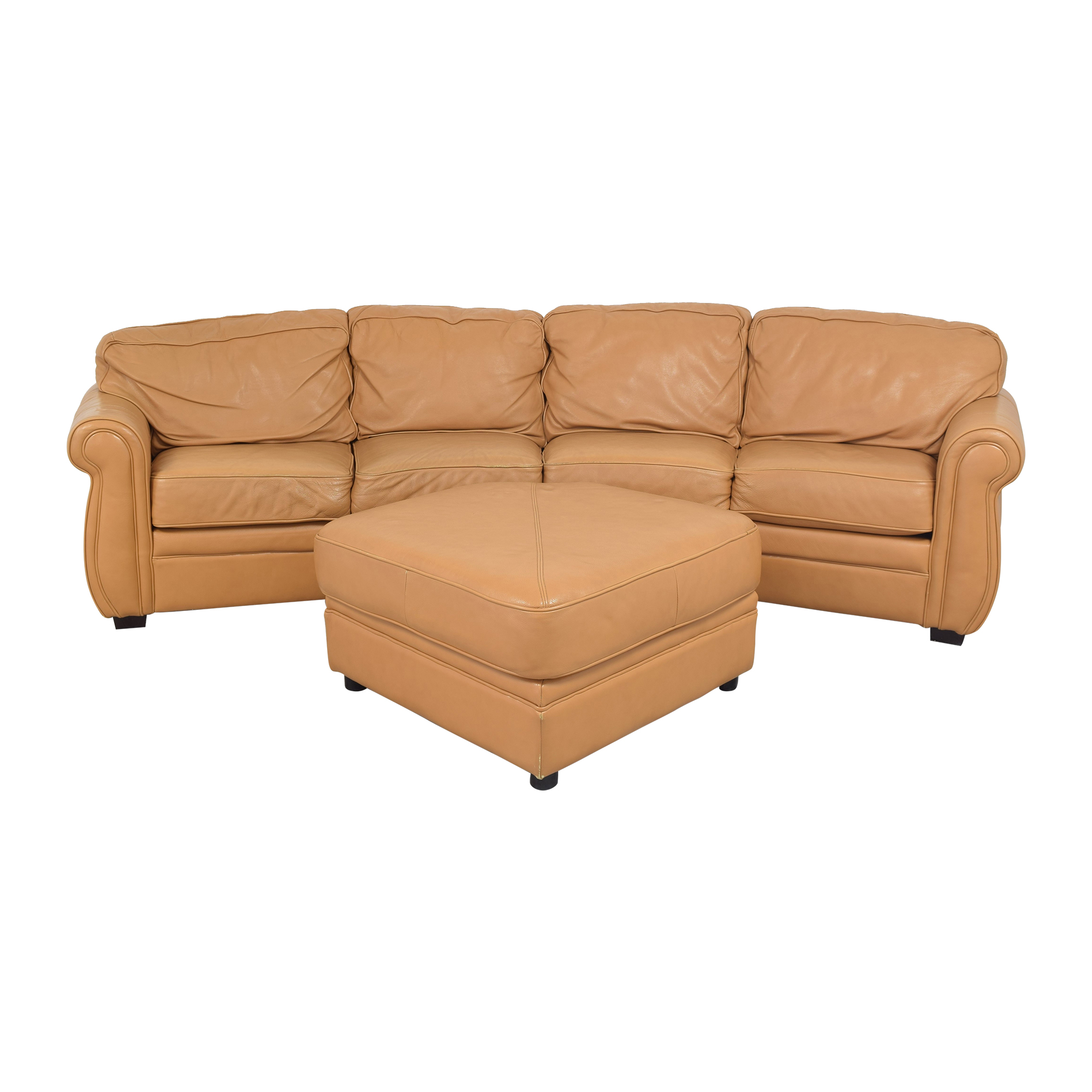Two Piece Sectional Sofa with Ottoman Sectionals